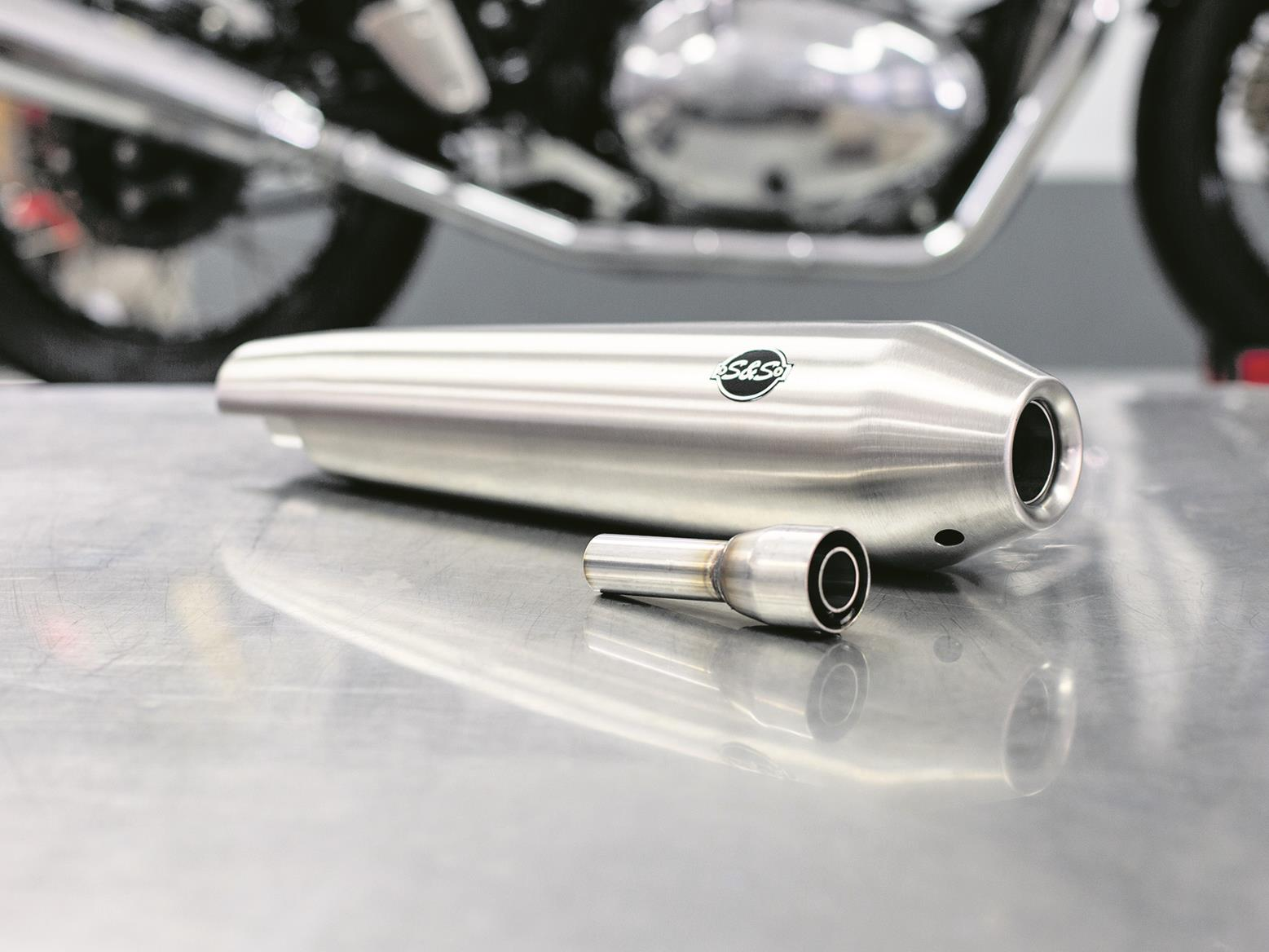 S&S slip-on exhaust for Royal Enfield 650 models