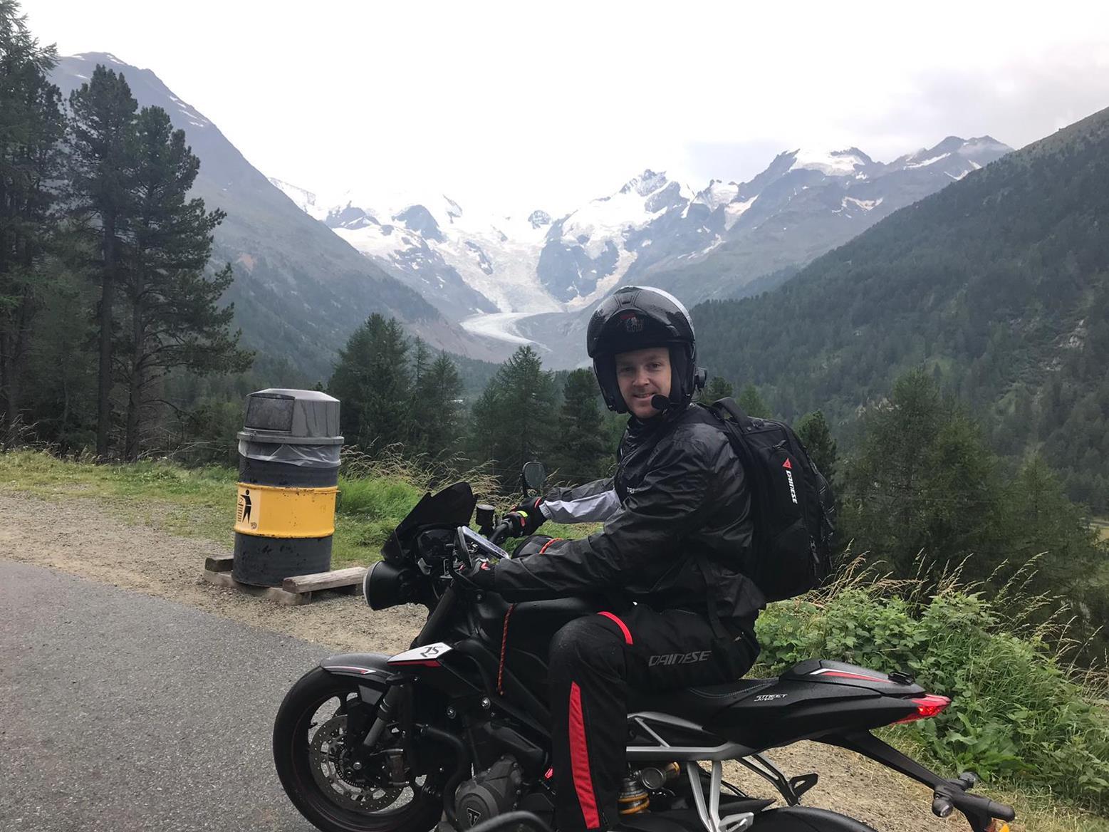 Dan Linfoot went on a European tour
