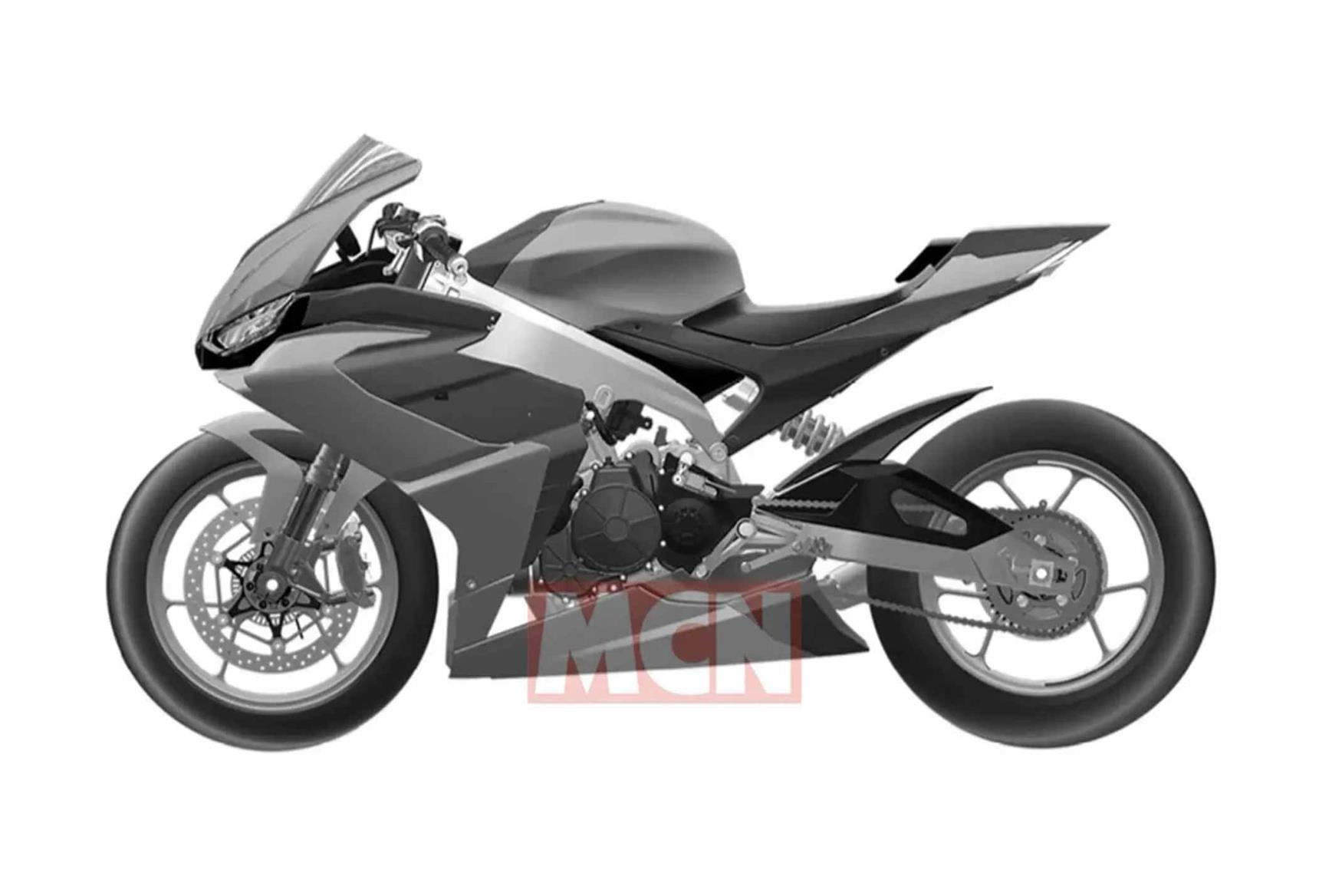 A potential side view of the incoming Aprilia RS660