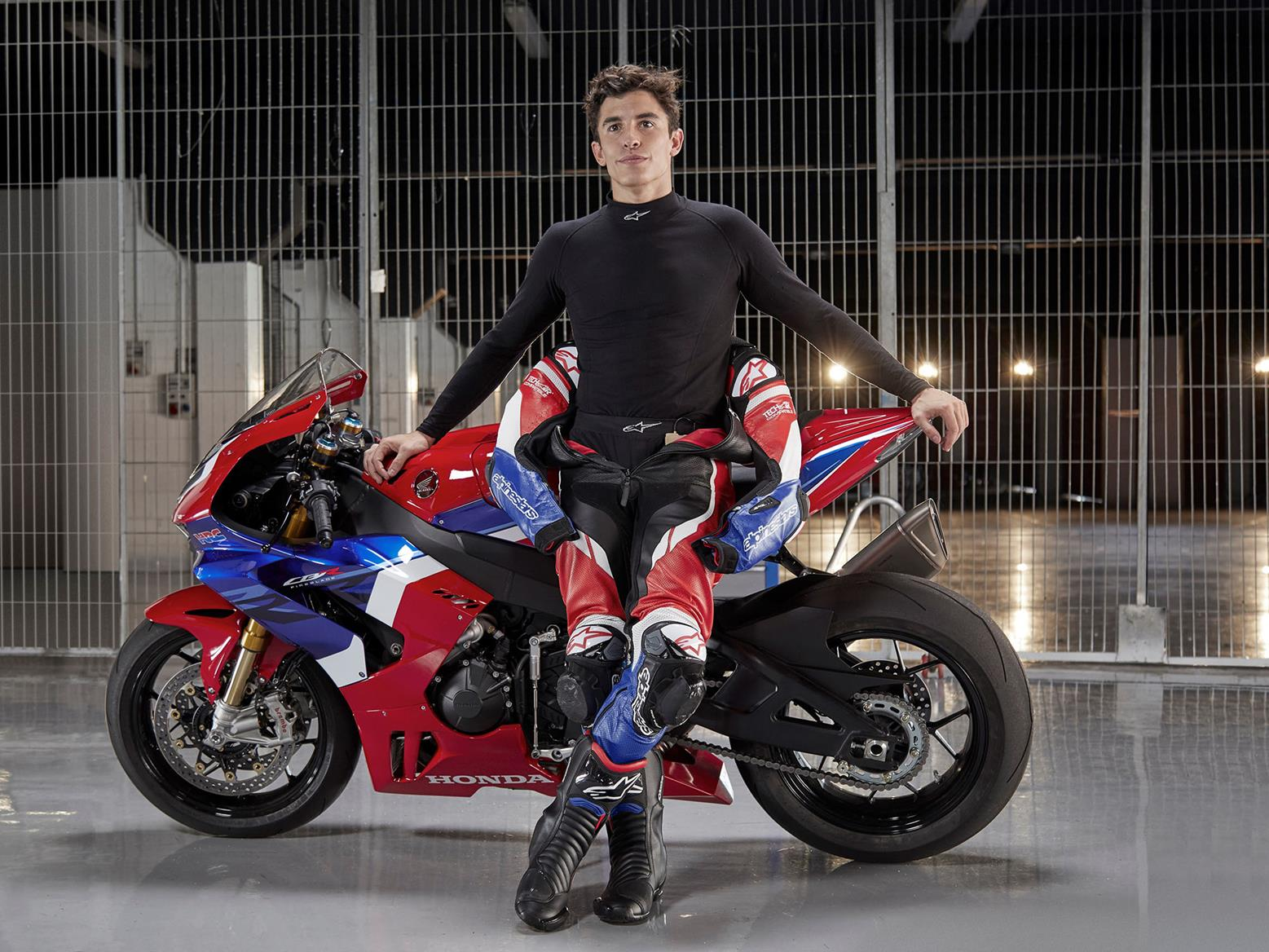 Marc Marquez with the 2020 Honda Fireblade