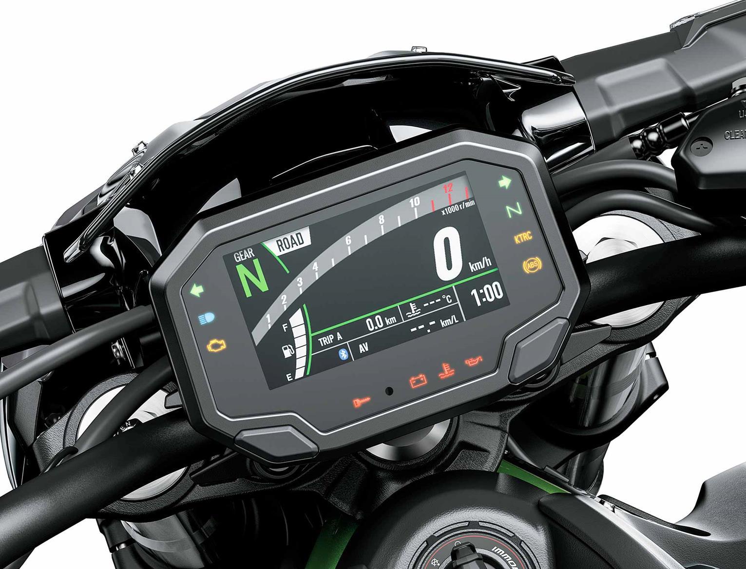 2020 Kawasaki Z900 TFT dash