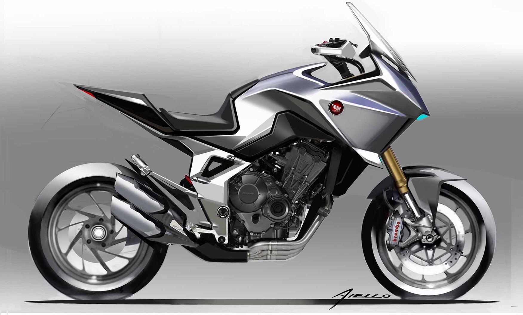 A sketch of the Honda CB4X concept