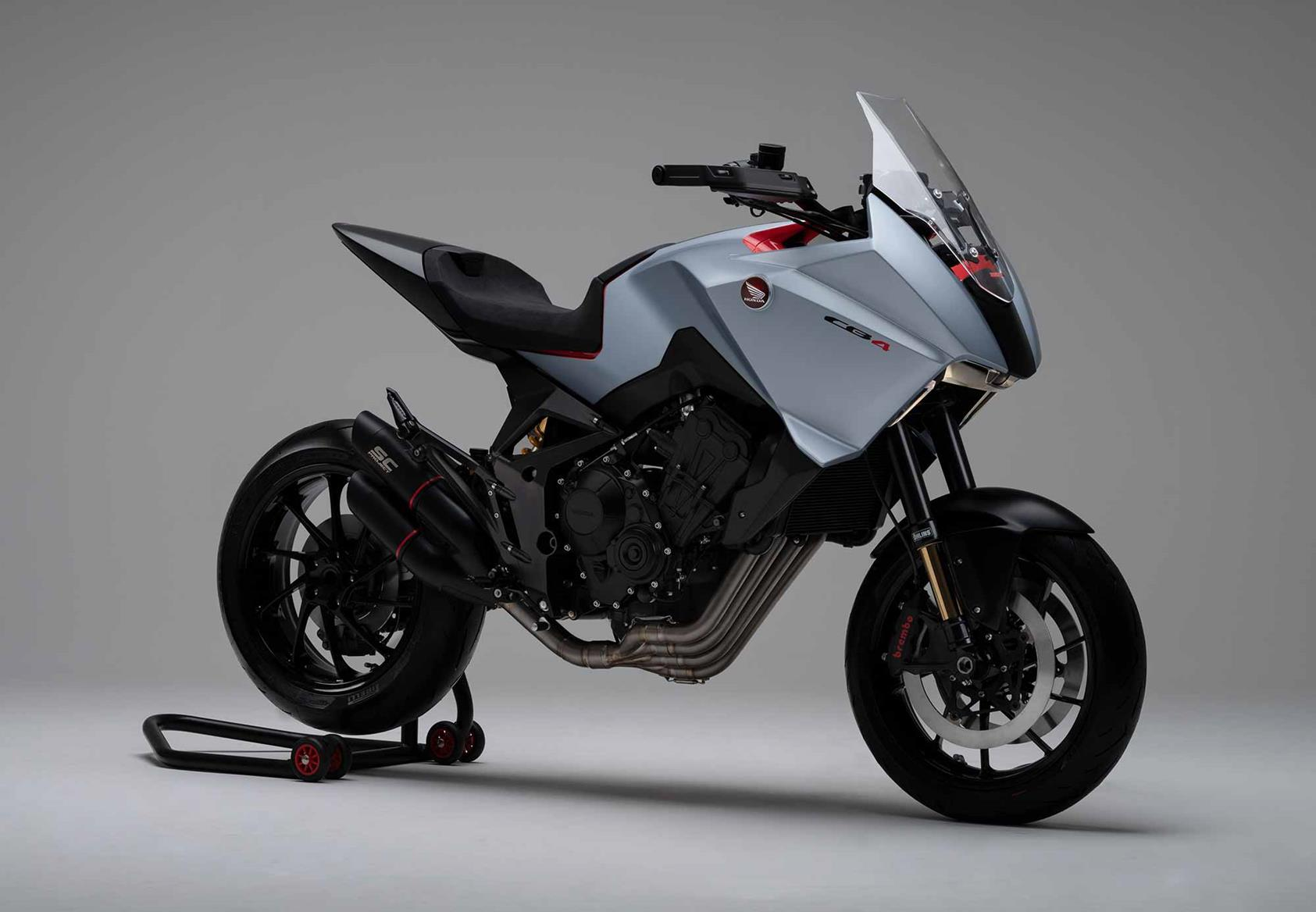 A right-hand view of the Honda CB4X