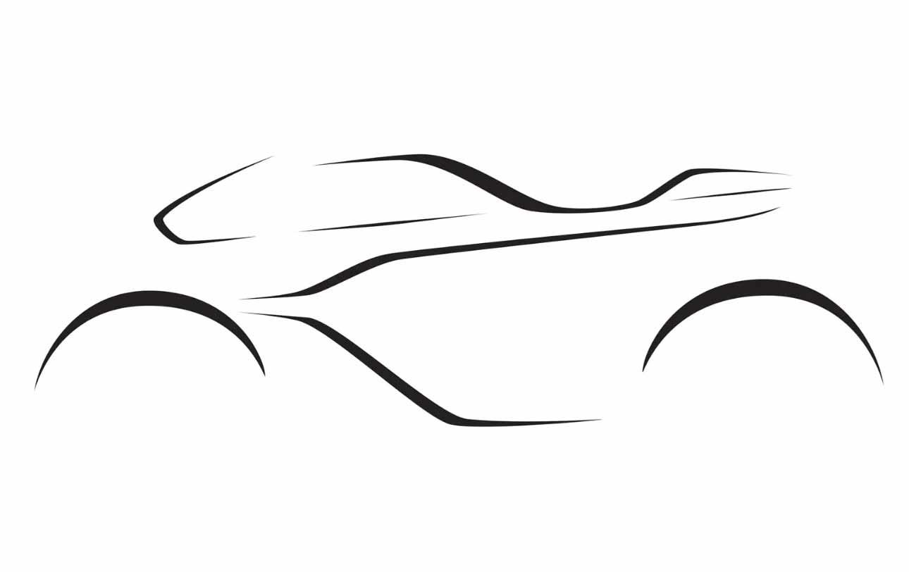 A sketch of the new bike to be produced by Brough and Aston Martin