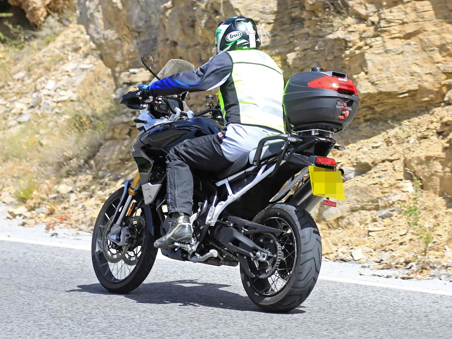 Triumph Tiger 900 Spy shot rear
