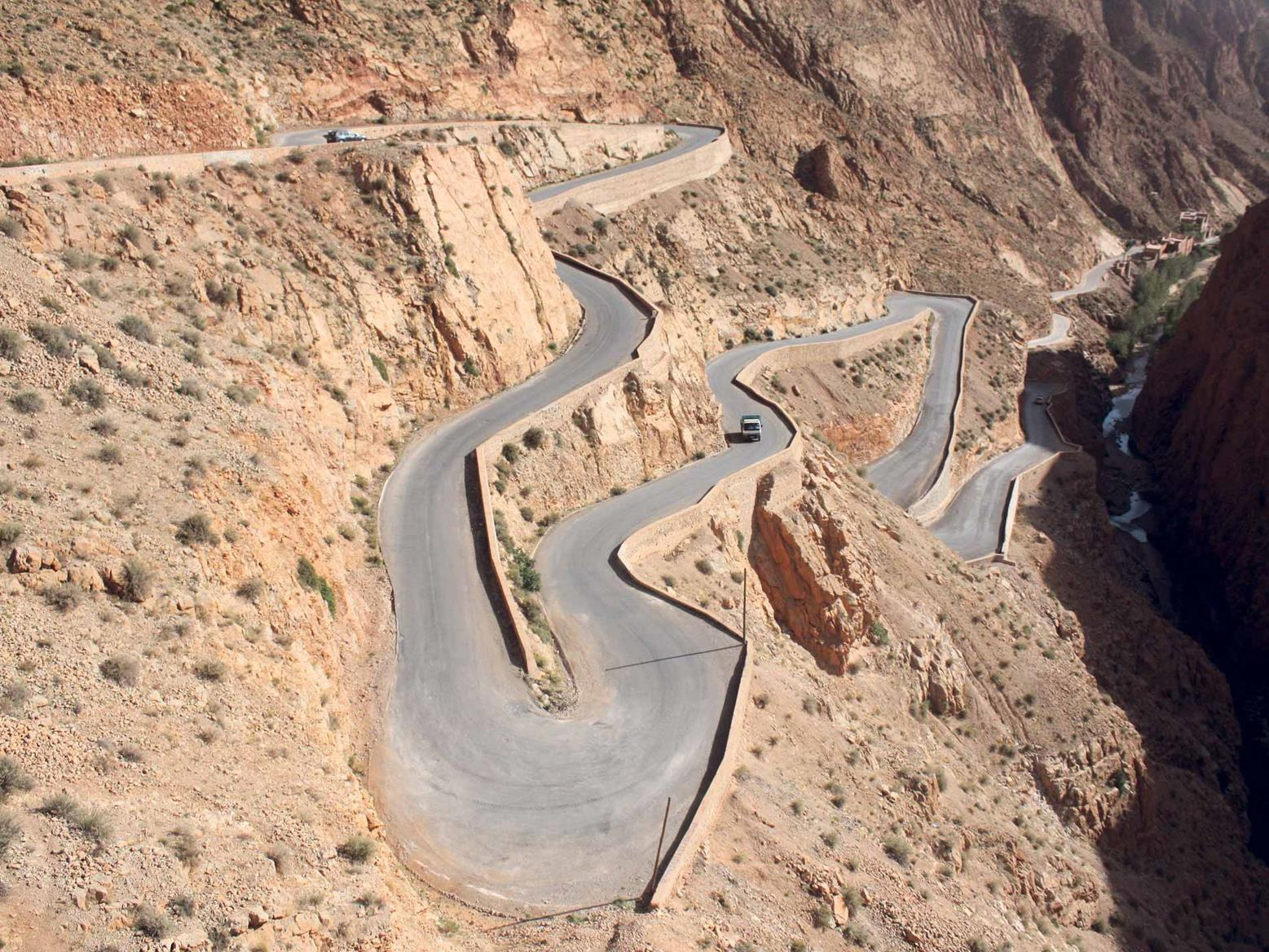 The roads in Morocco can be stunning