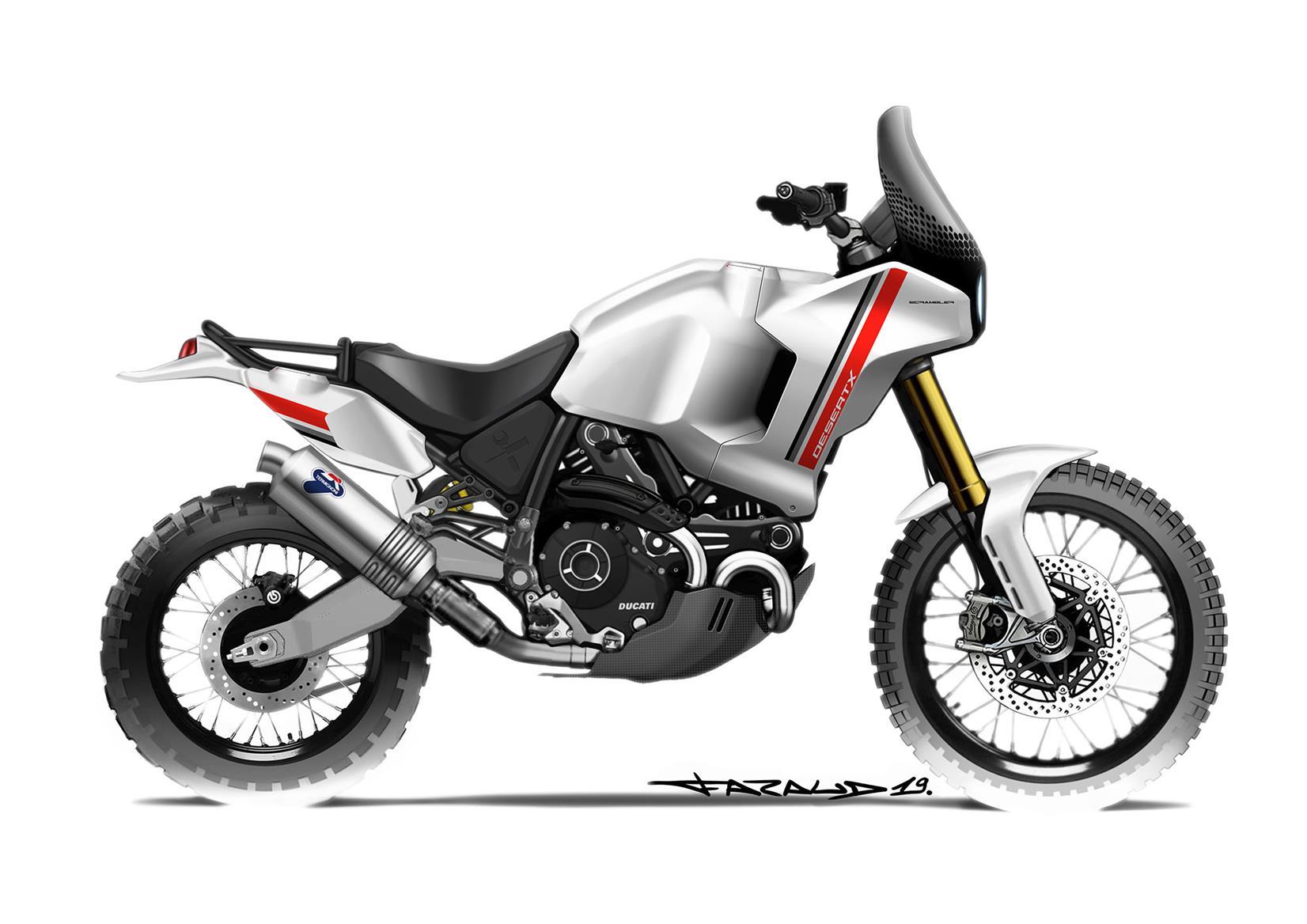 The Ducati Desert X retro concept