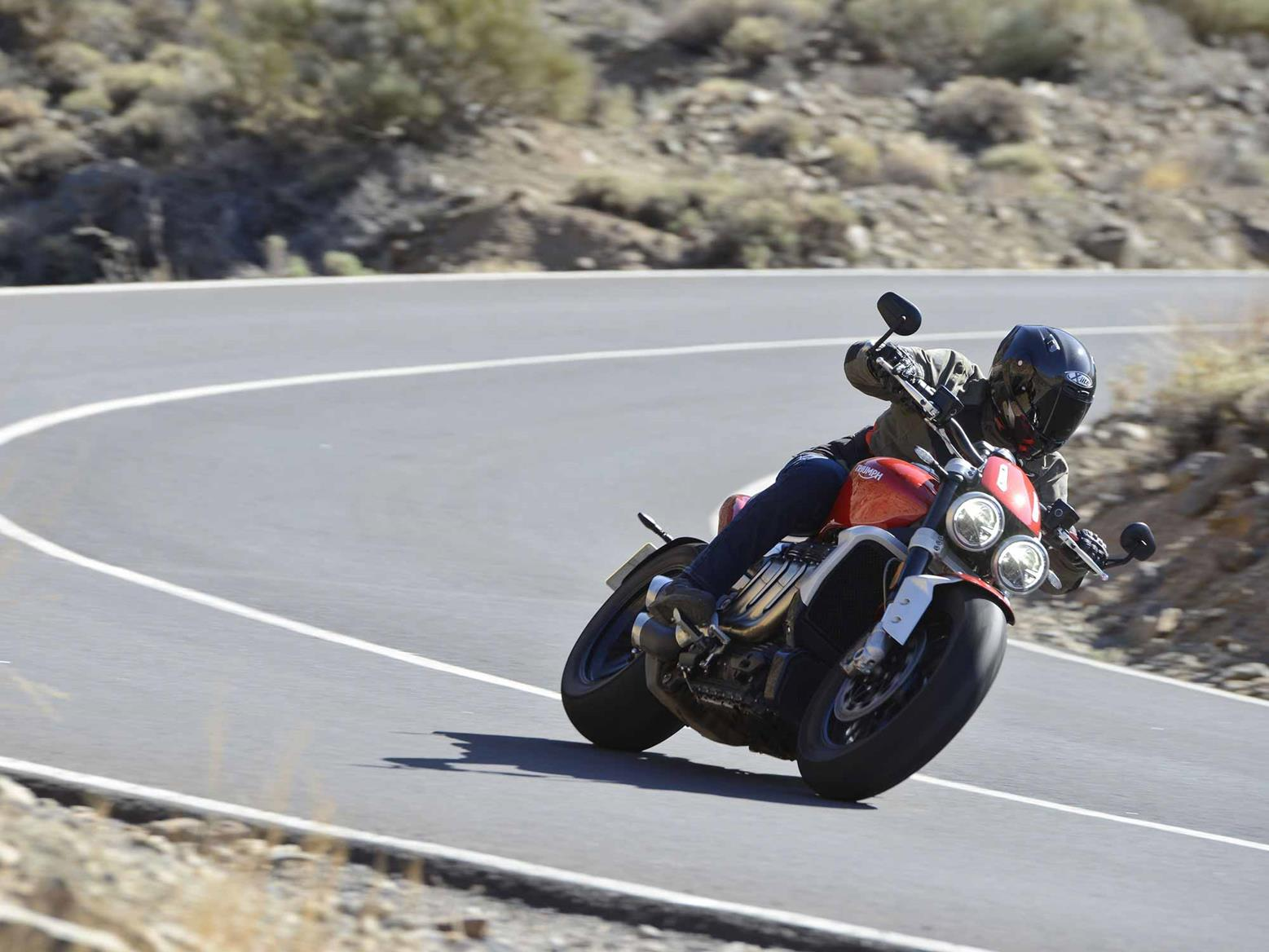 Turning on the Triumph Rocket 3