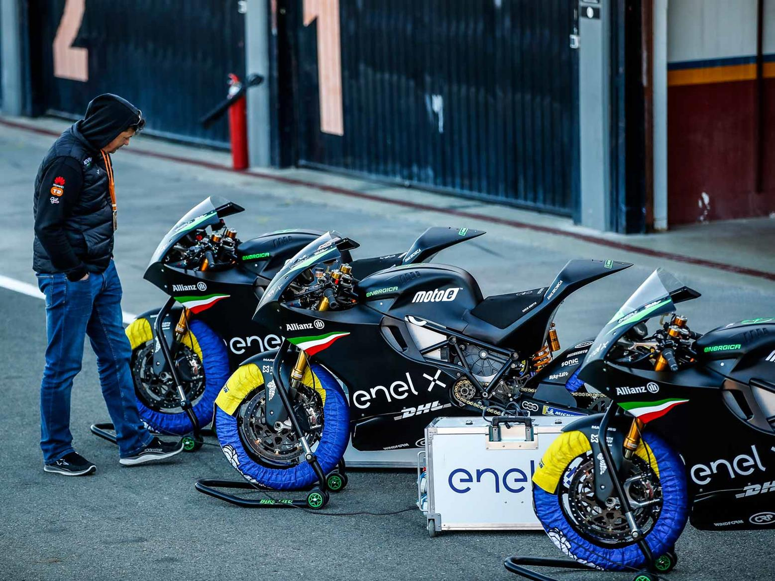 Bikes take around 45 minutes to fast charge in the pits