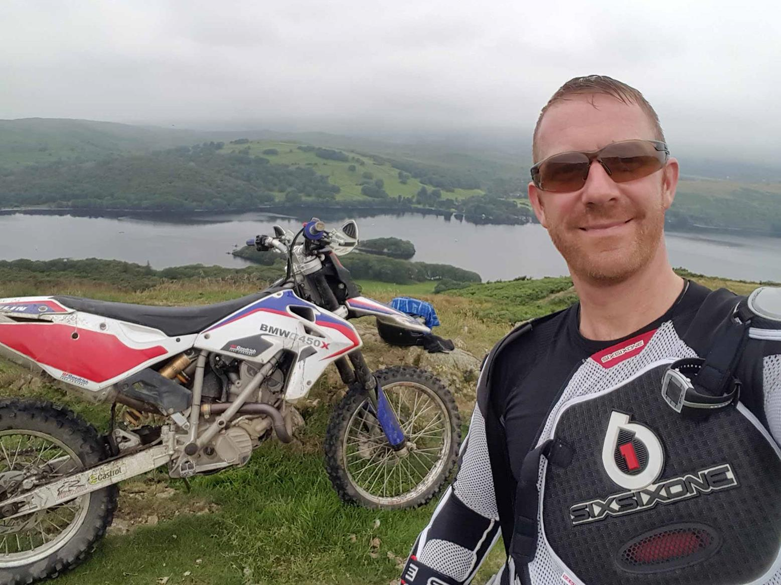 Andy Kent out on his BMW G450X