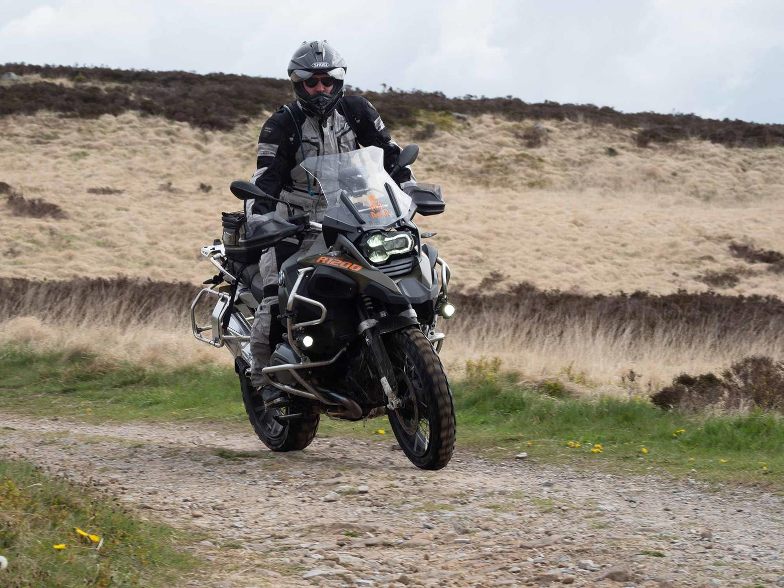 Riding on a BMW R1200GSA off-road