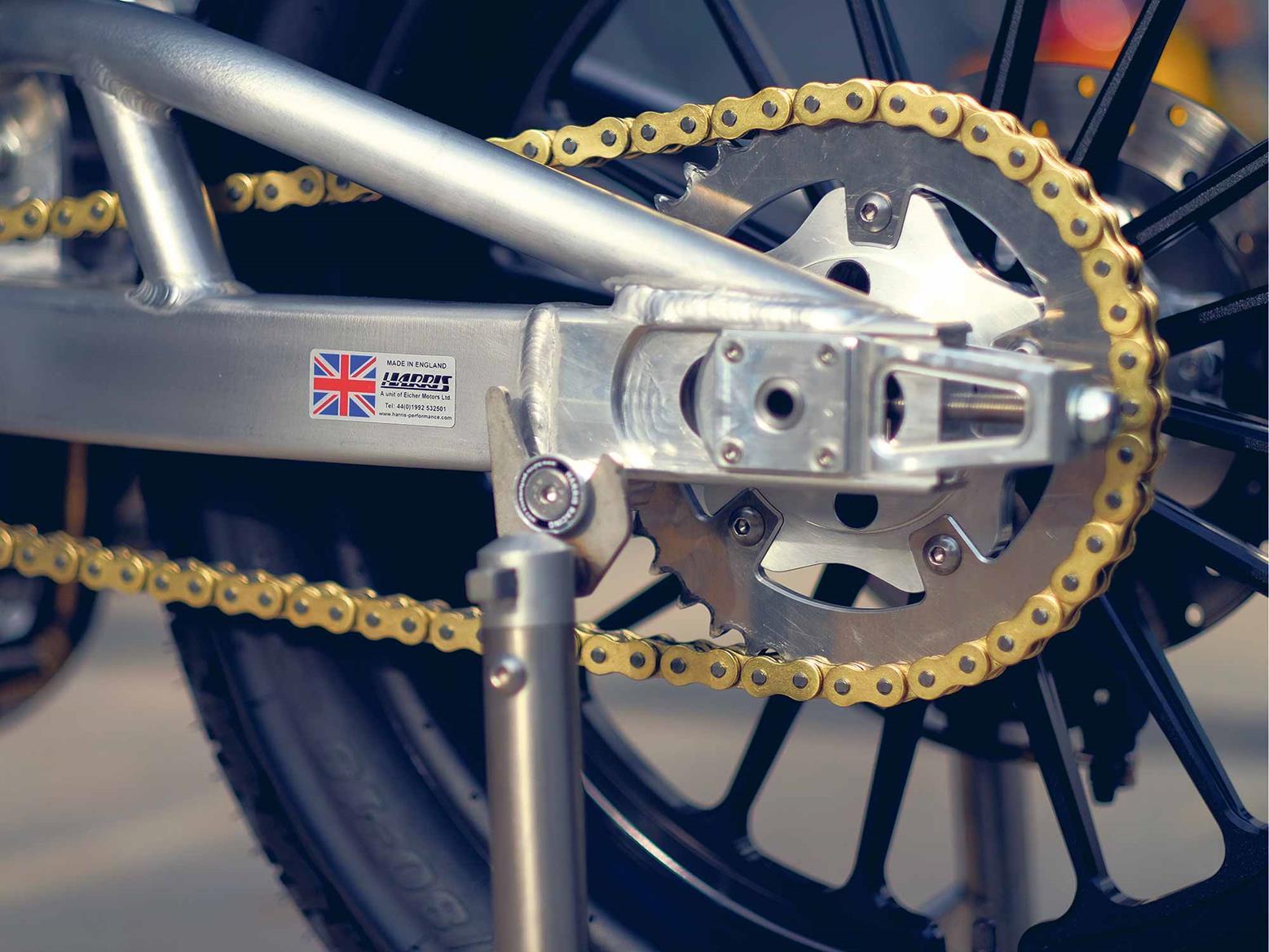 Royal Enfield flattracker chain and sprocket