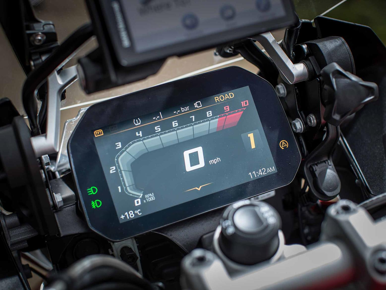 BMW R1200GS Adventure TFT dash