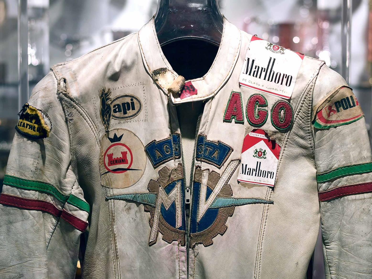 Classic Giacomo Agostini racing leathers