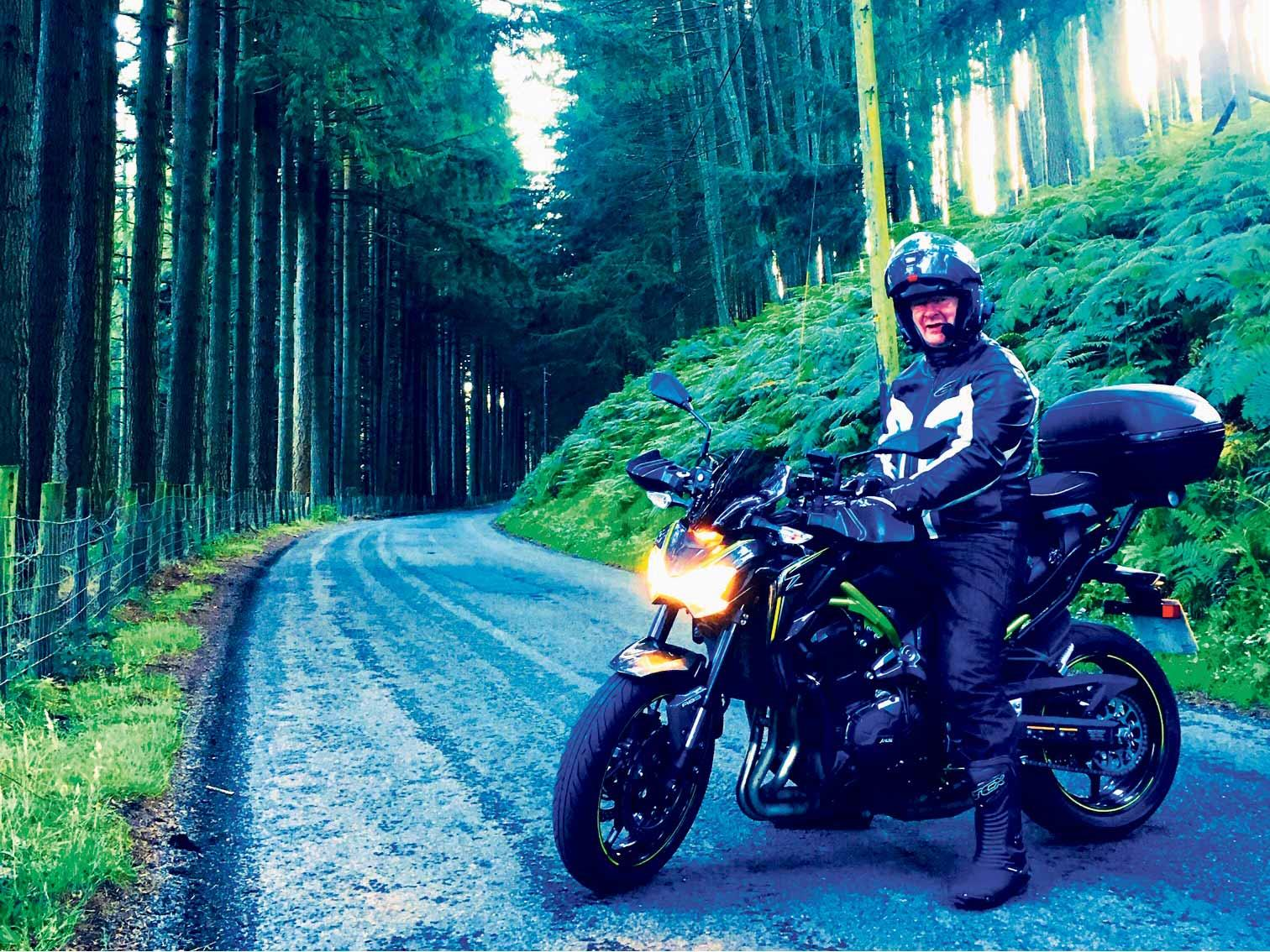 Richard Bentham swapped his Kawasaki ZZR600 for a Z900