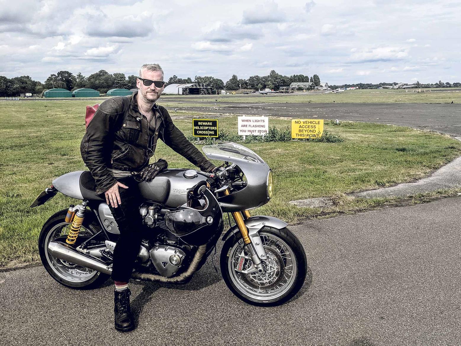 Sam Beech loves his Triumph Thruxton R
