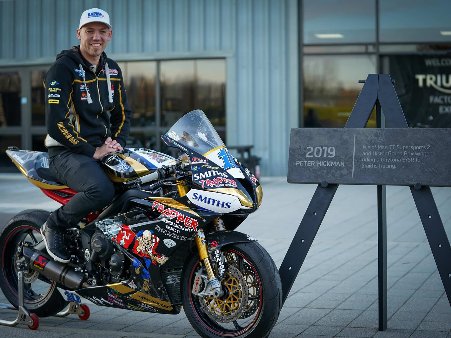 Peter Hickman is honoured on Triumph Avenue of Legends