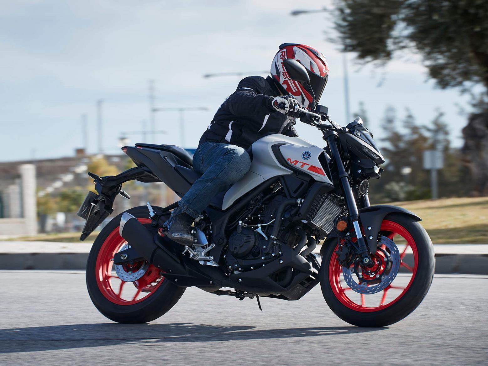 2020 Yamaha MT-03 on the road
