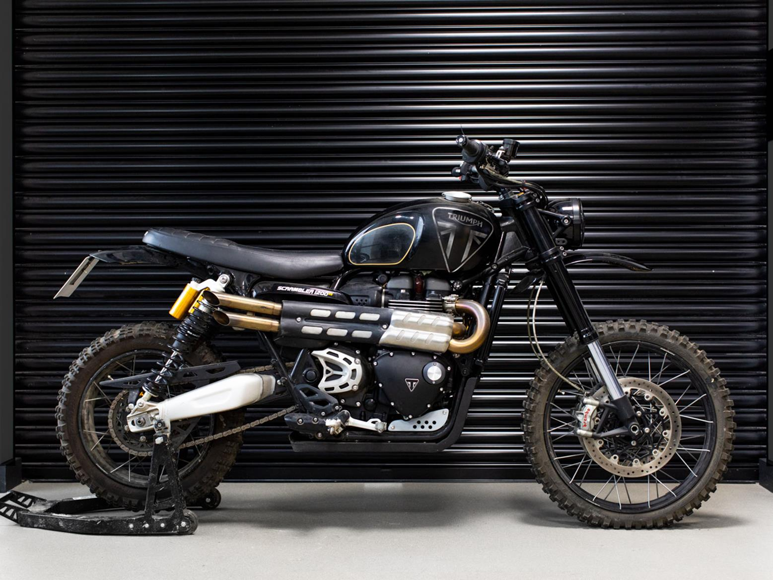 The Triumph Scrambler 1200 used in James Bond: No Time to Die