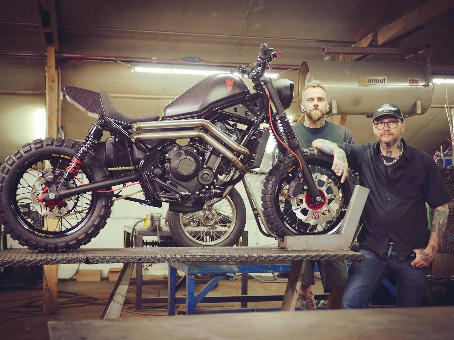 A custom Honda Rebel by tattoo artist Dan Gold