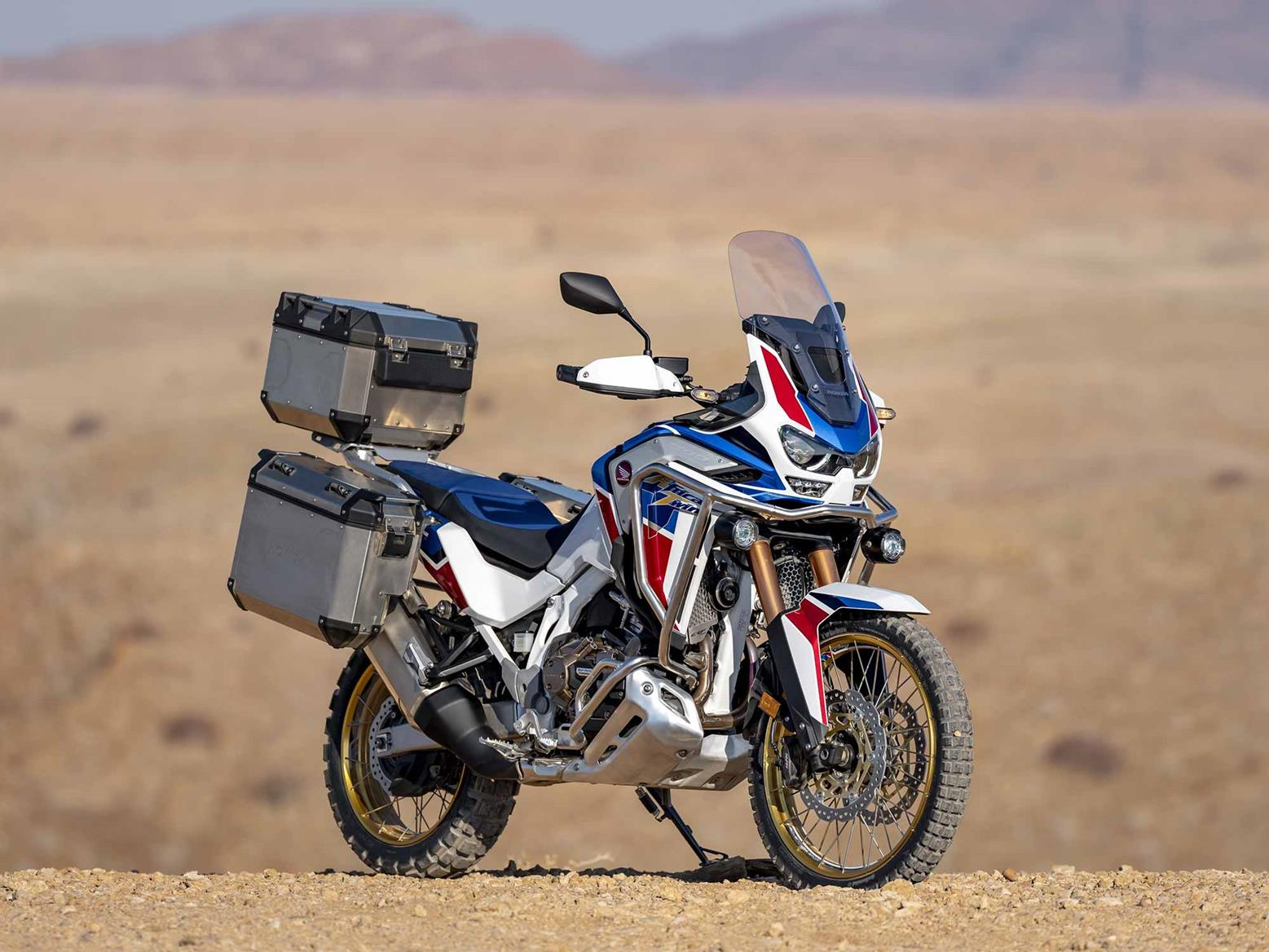 Honda CRF1100L Africa Twin Adventure Sport parked off-road
