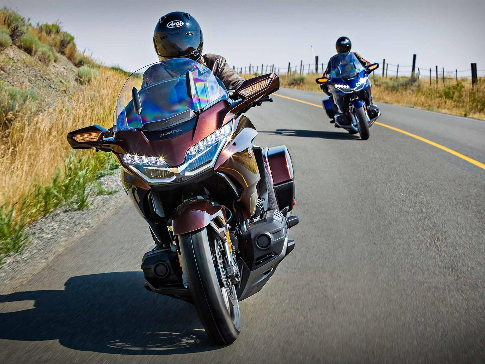 Group riding on the Honda GL1800 Gold Wing DCT