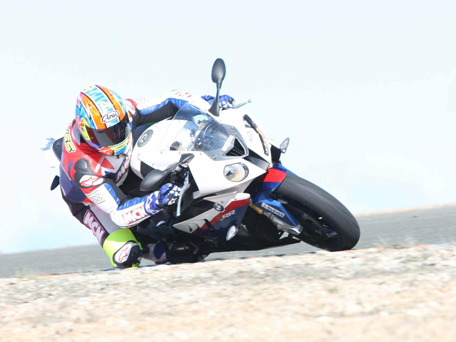 Cornering on the 2010 BMW S1000RR