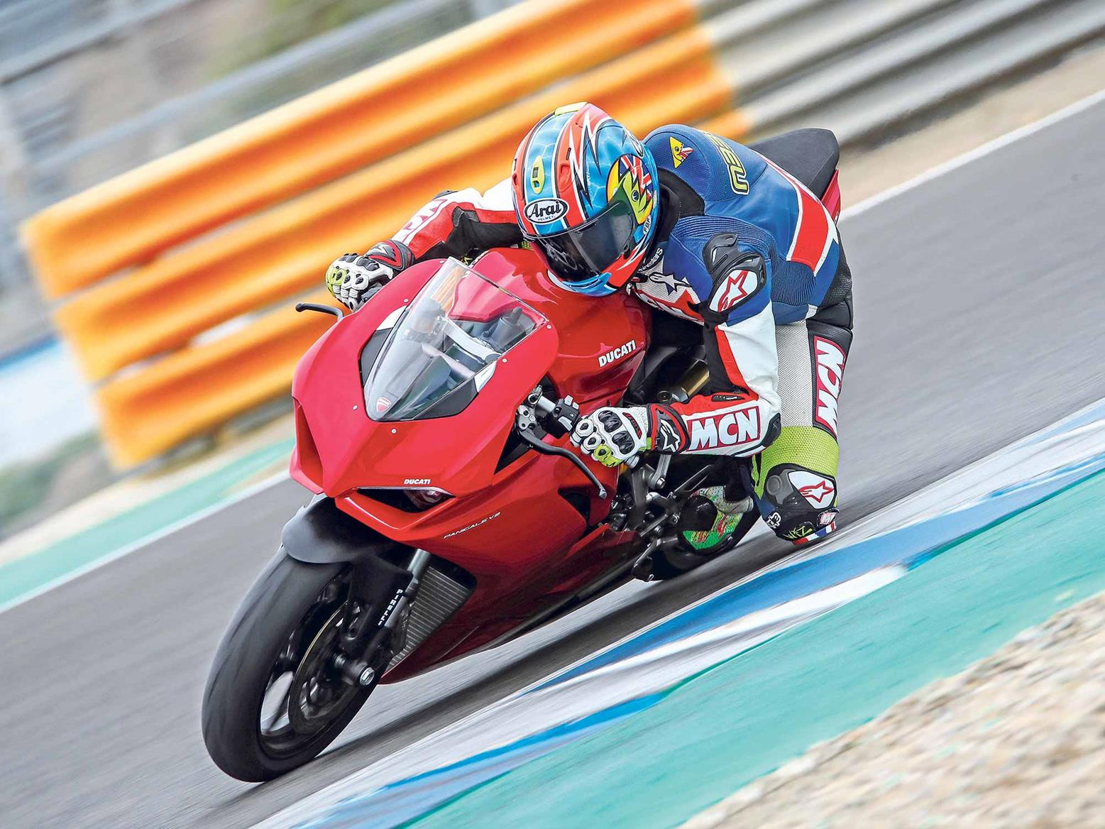 On track on the Ducati Panigale V2