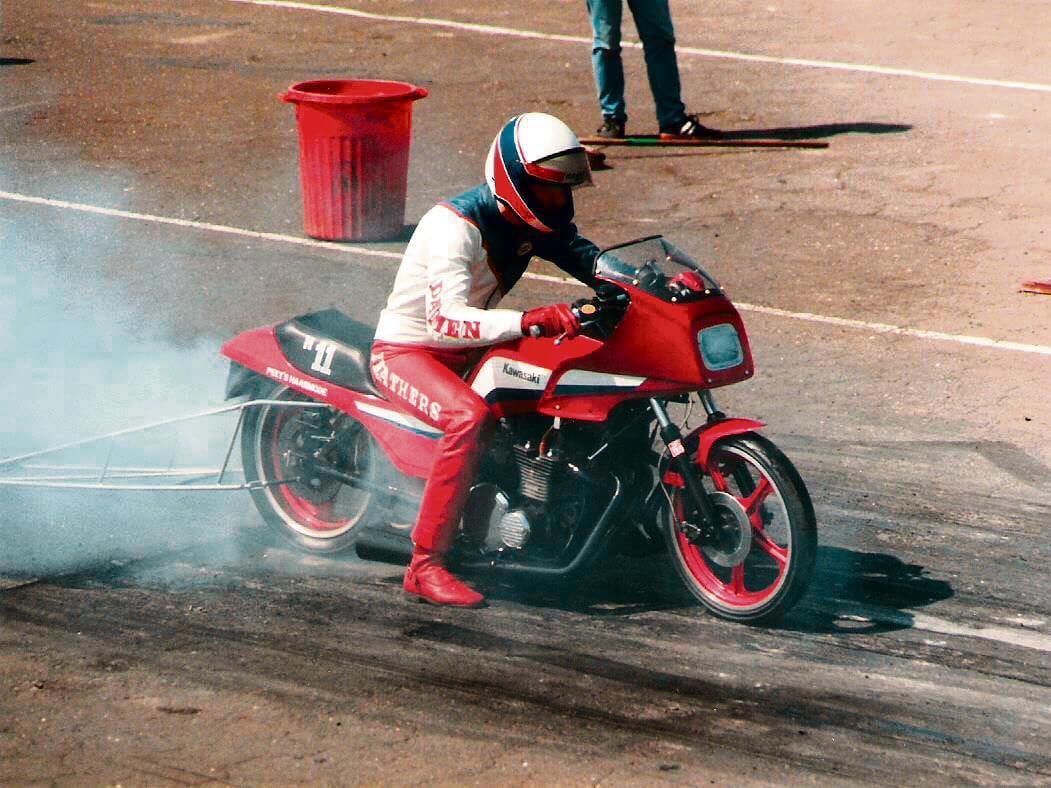 Burnout at the Melbourne Raceway