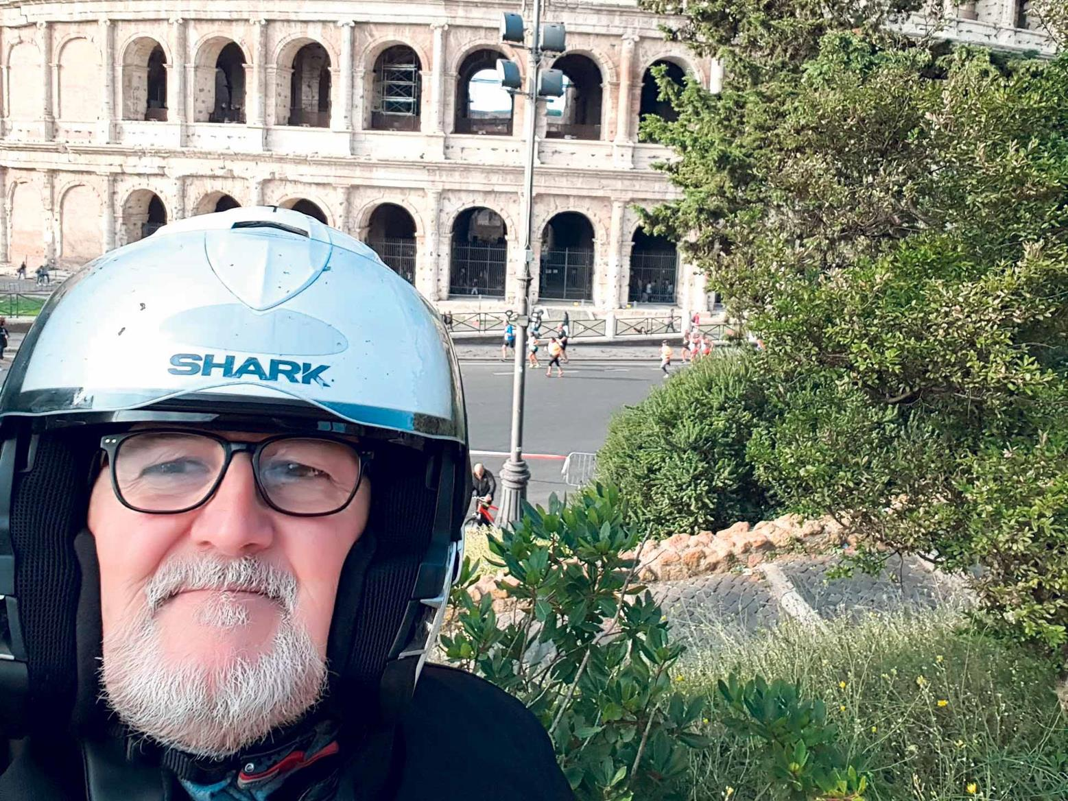 Phil's riding takes him all over Europe
