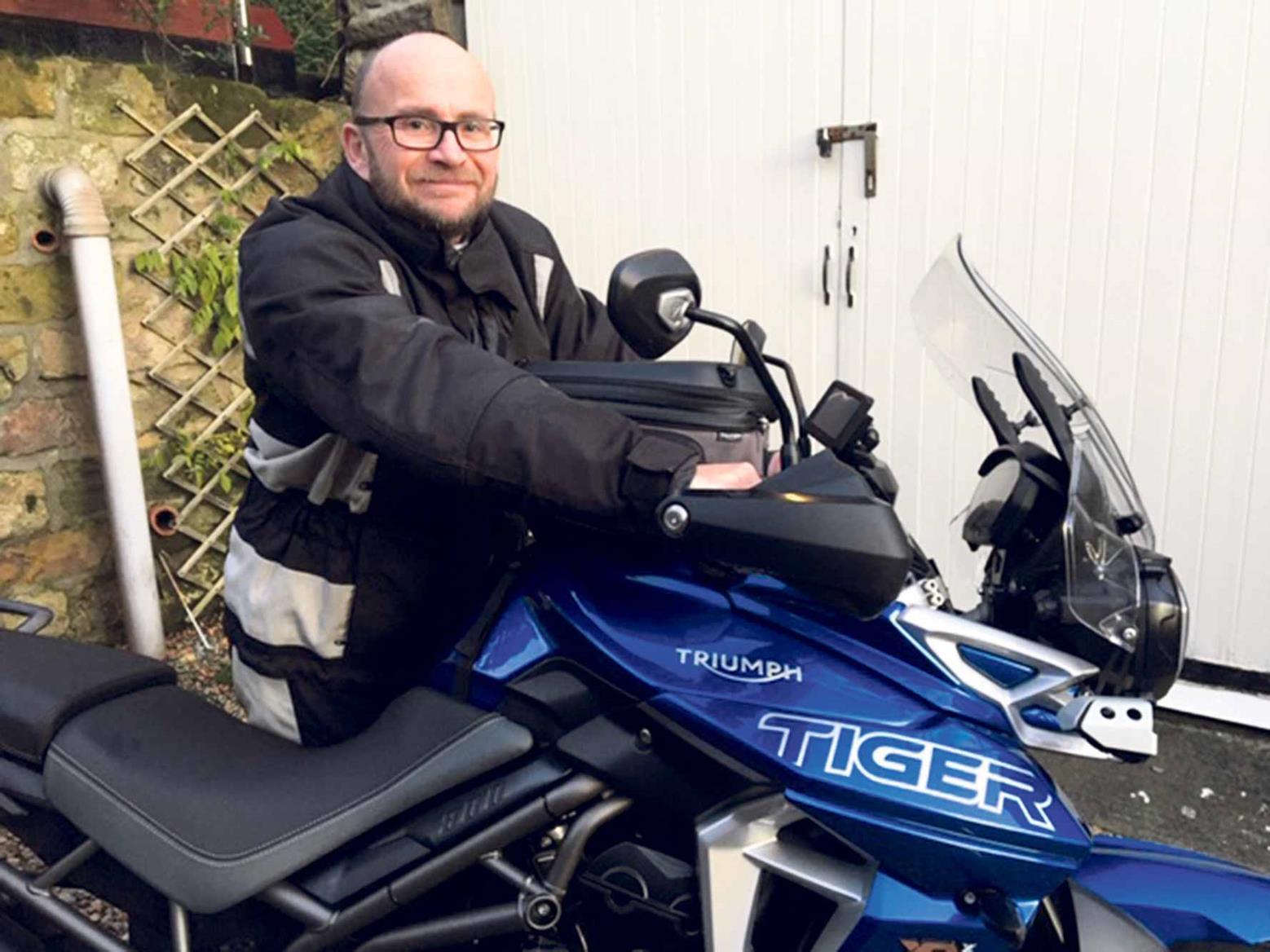 Dr Steve Johnson and his Triumph Tiger 800 XRX