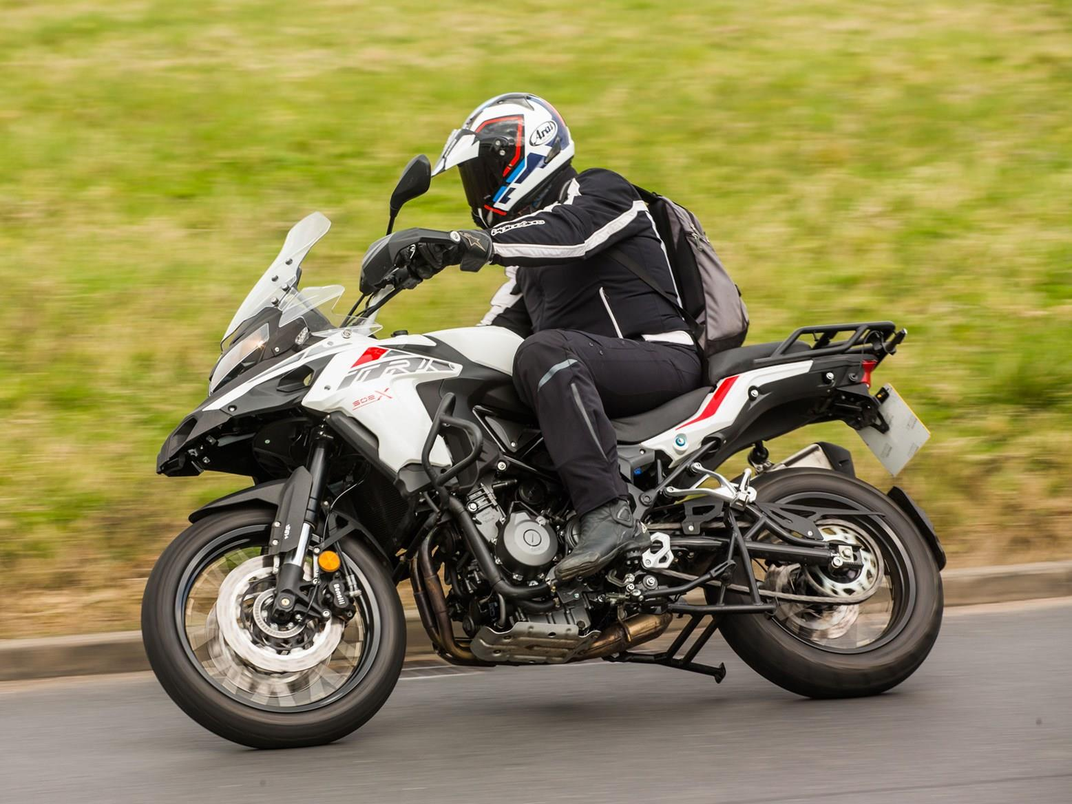 Cornering on the Benelli TRK 502