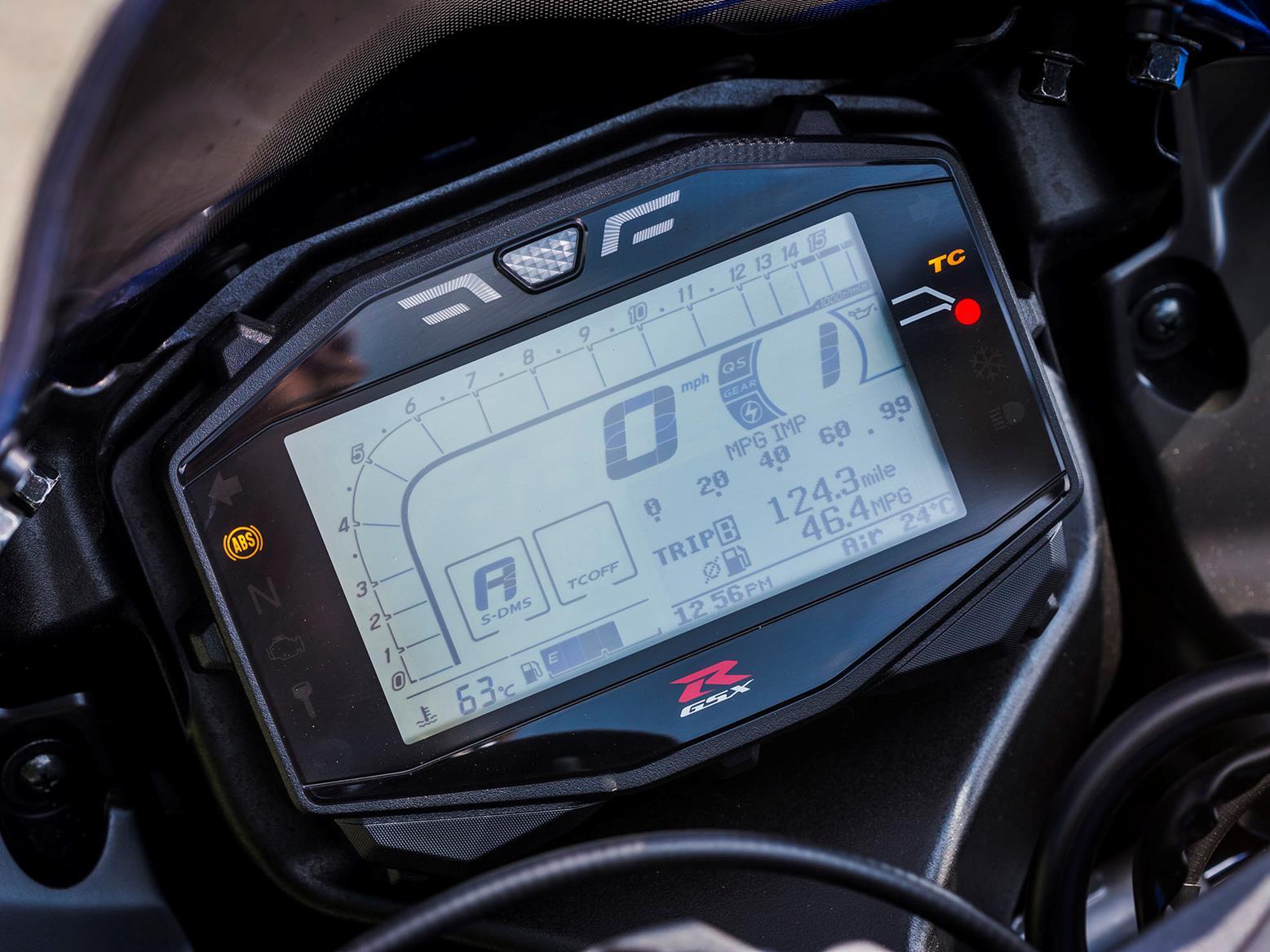 Suzuki GSX-R1000 dash