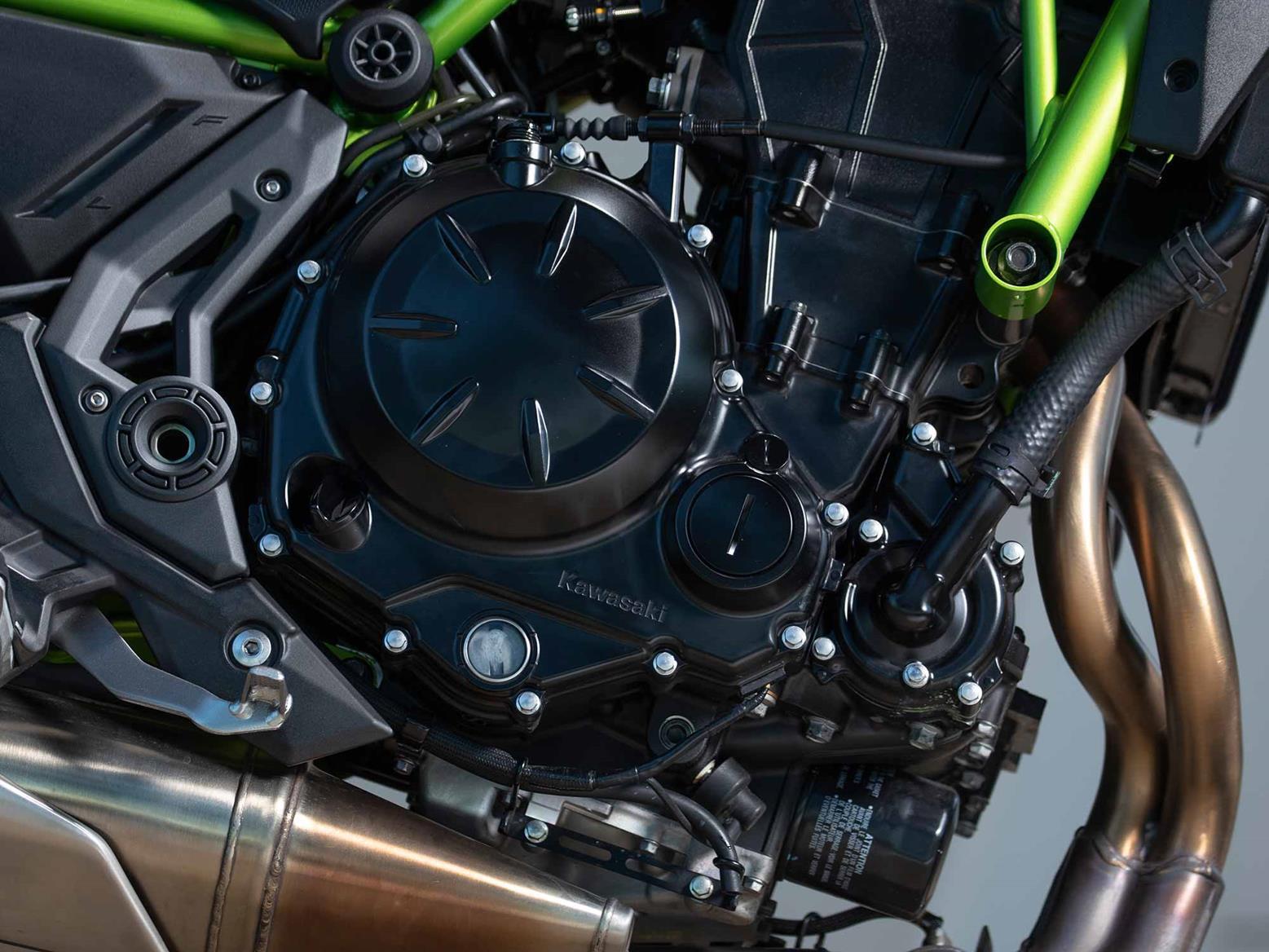 The 2020 Kawasaki Z650 engine is Euro5 compliant