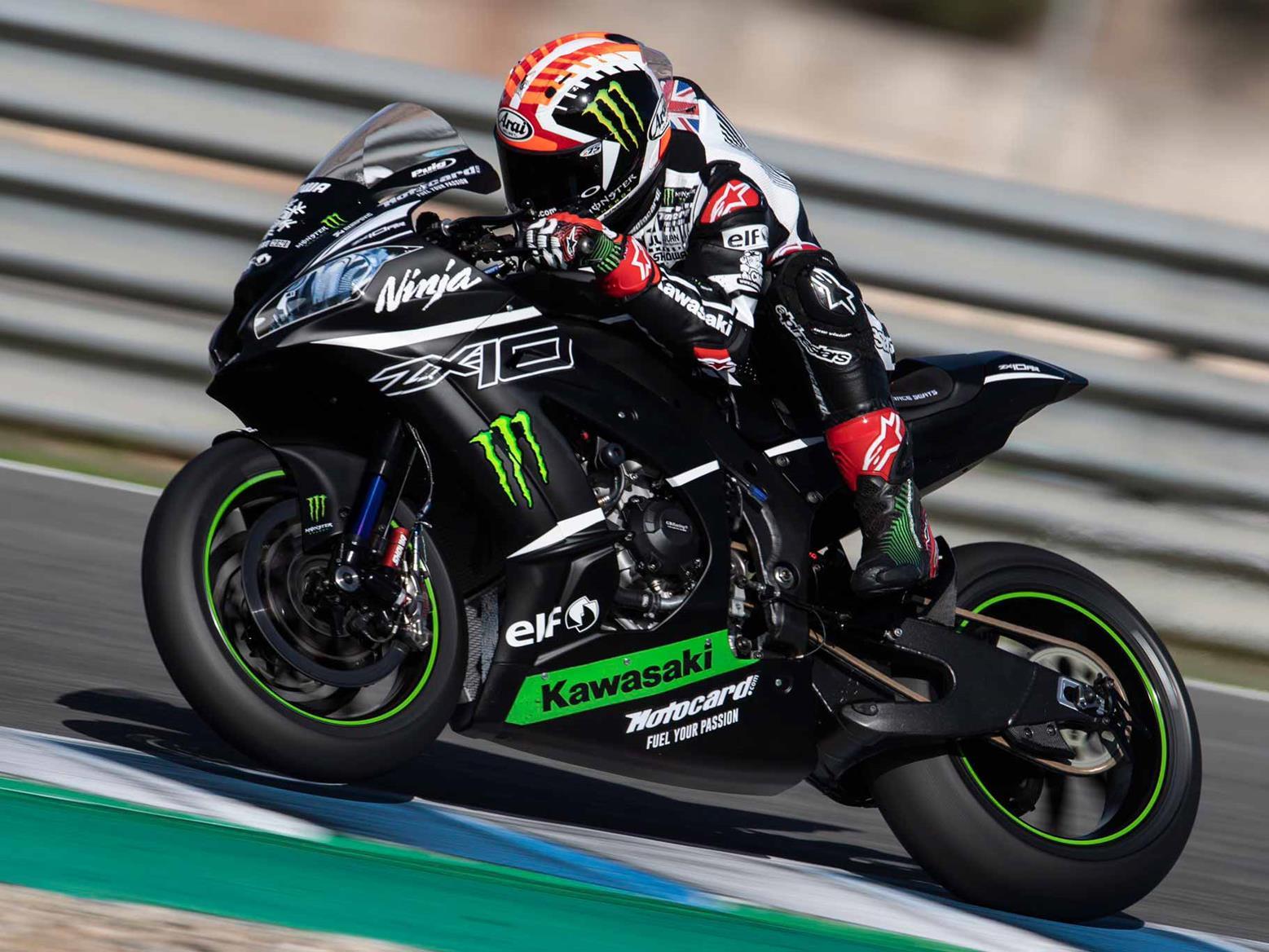 Jonathan Rea testing for Kawasaki