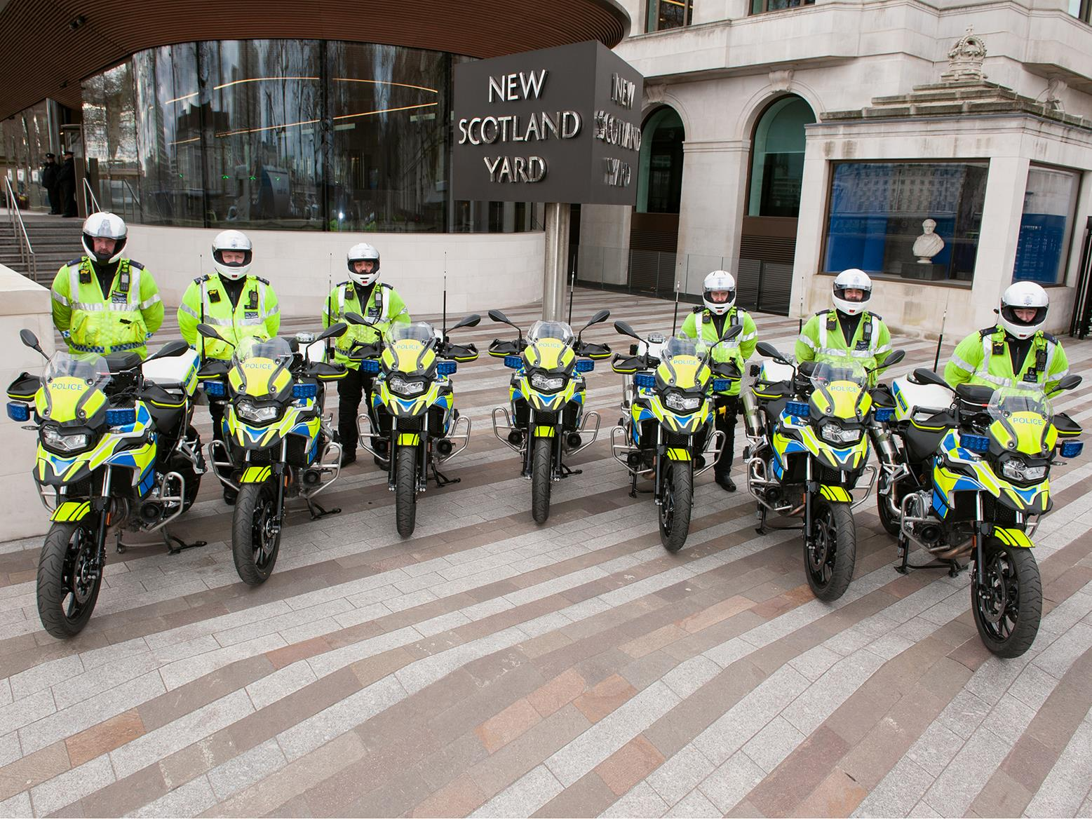 Met Police officers line up with BMW F750GS-Ps