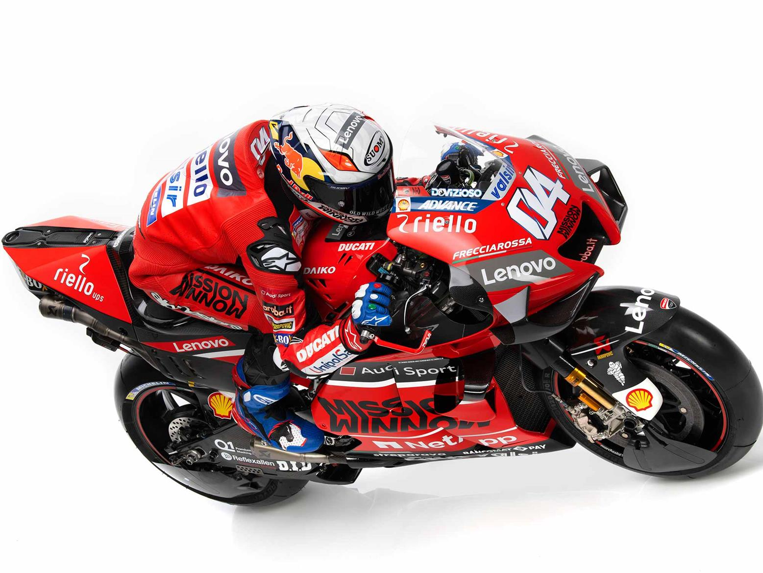 Dovizioso with the GP20 livery