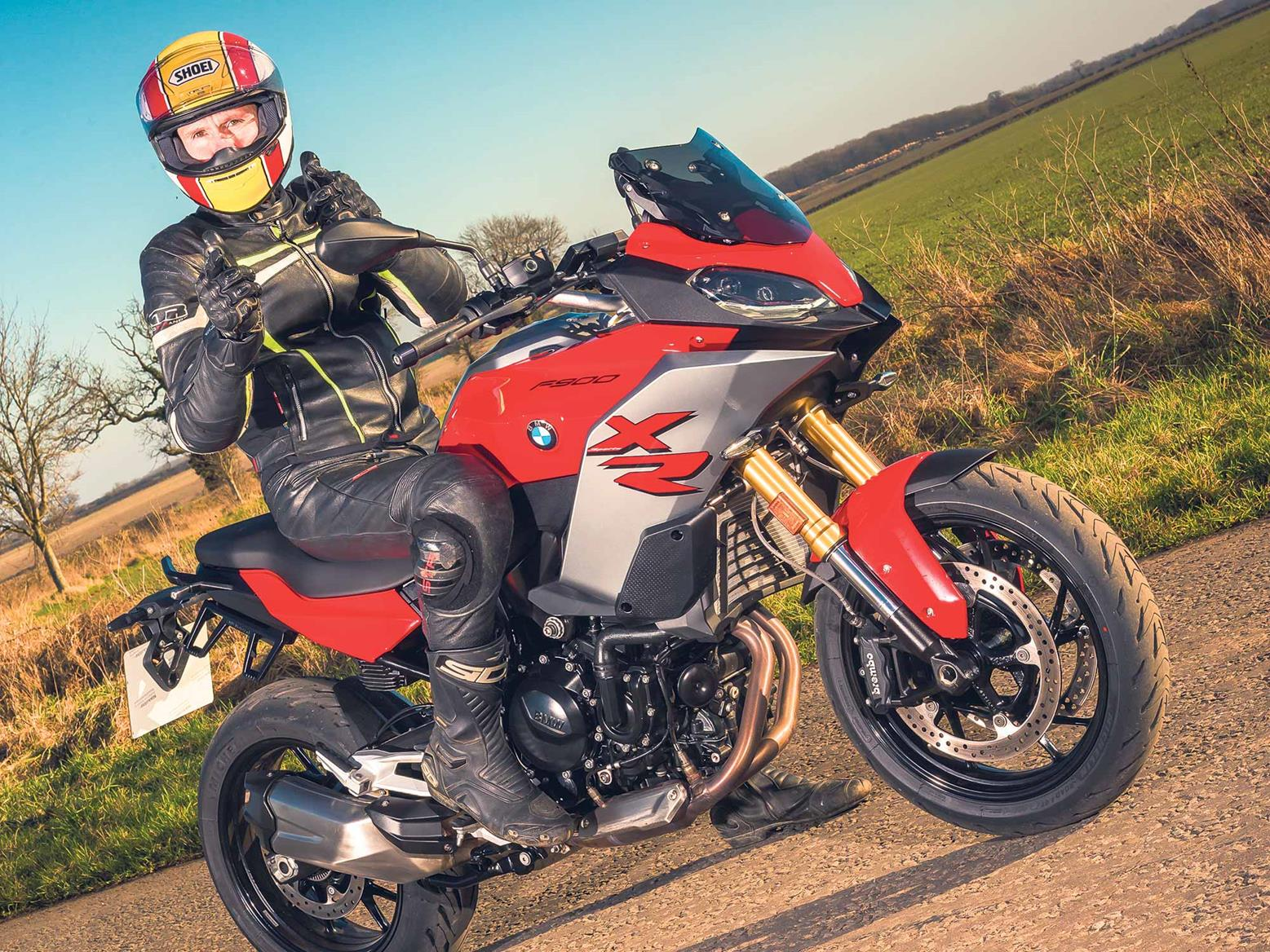 Tester Mike Armitage with the BMW F900XR