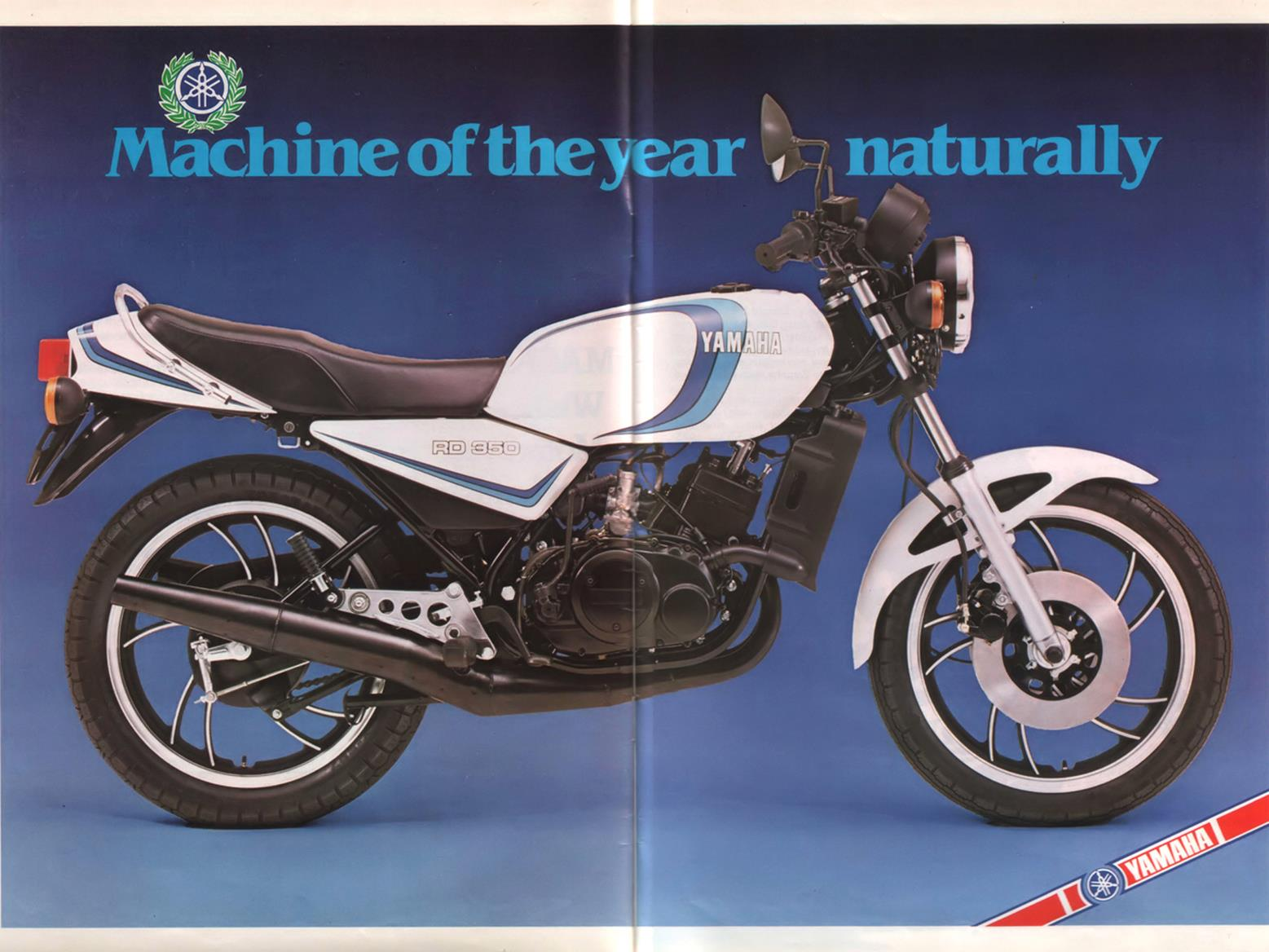 MCN's machine of the year for 1980 was the Yamaha RD350LC