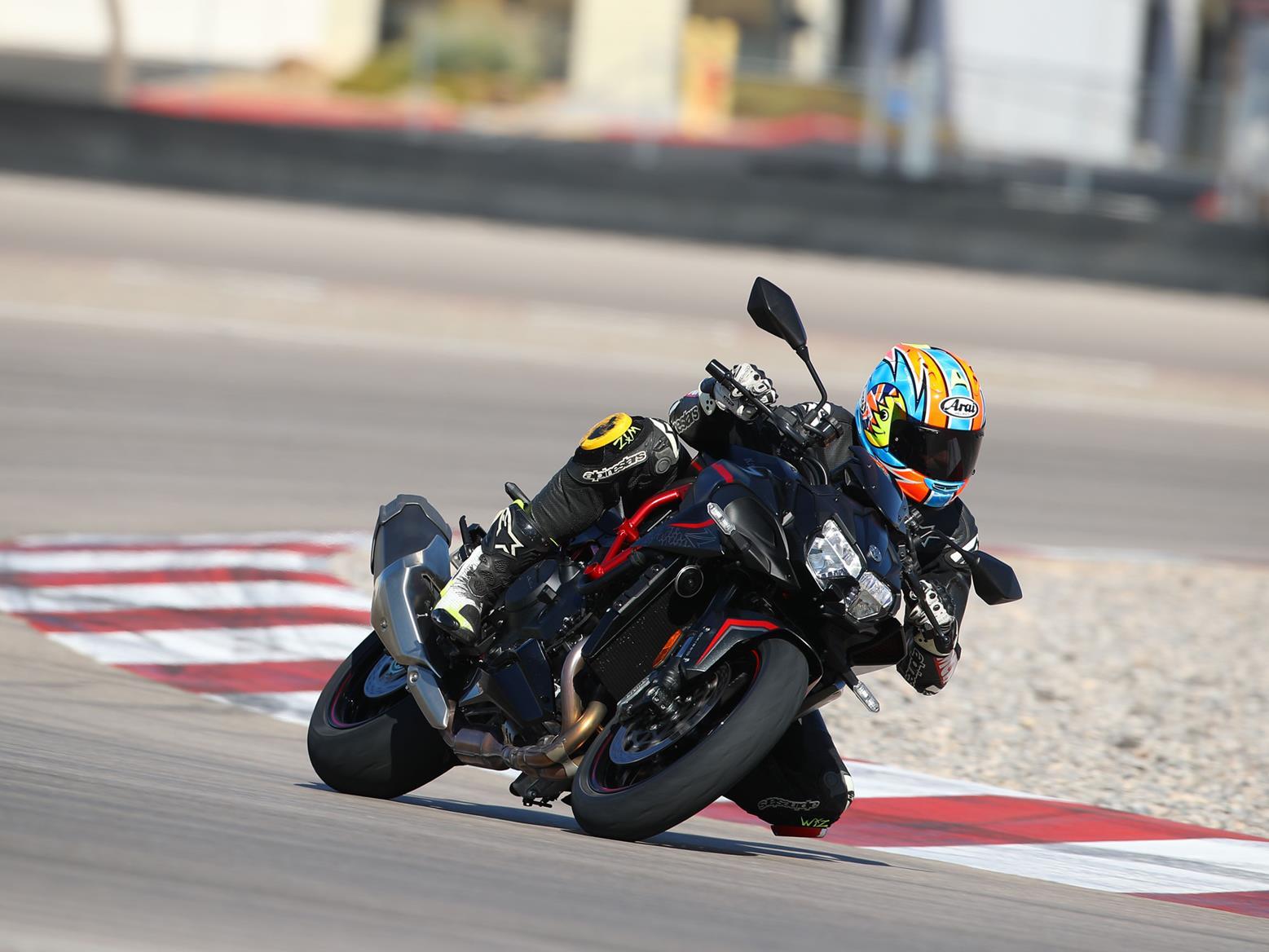 On track aboard the Kawasaki Z H2