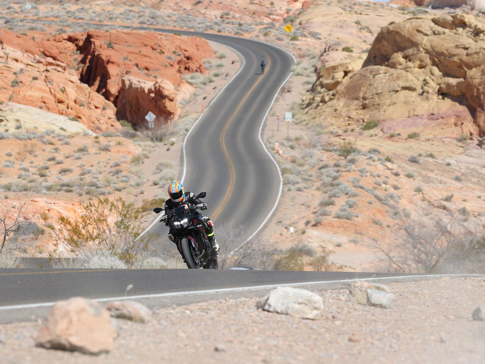 Riding the 2020 Kawasaki Z H2 on the road