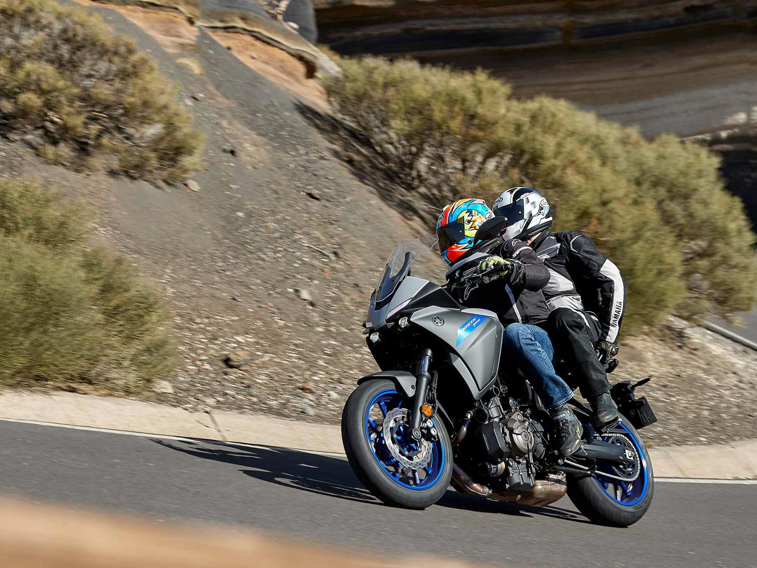 Riding the Yamaha Tracer 700 with a pillion
