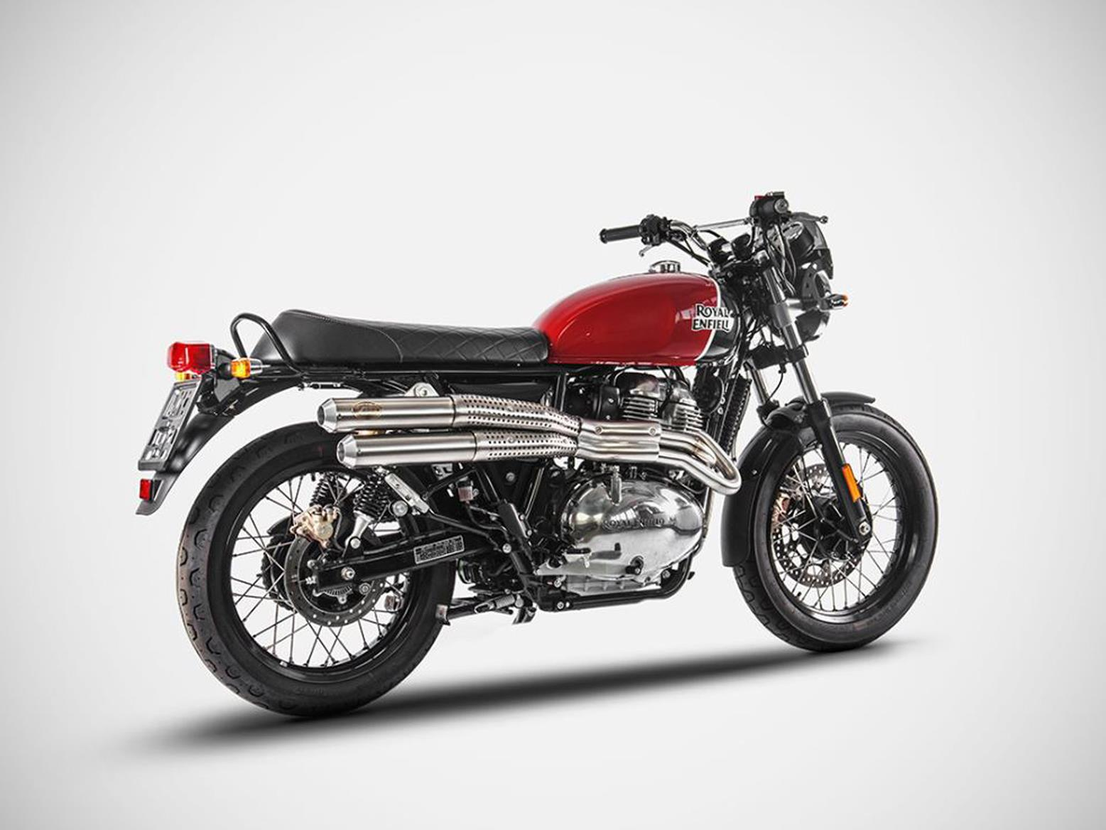 Royal Enfield Continental GT with Zard flat-track pipesRoyal Enfield Continental GT with Zard flat-track pipes