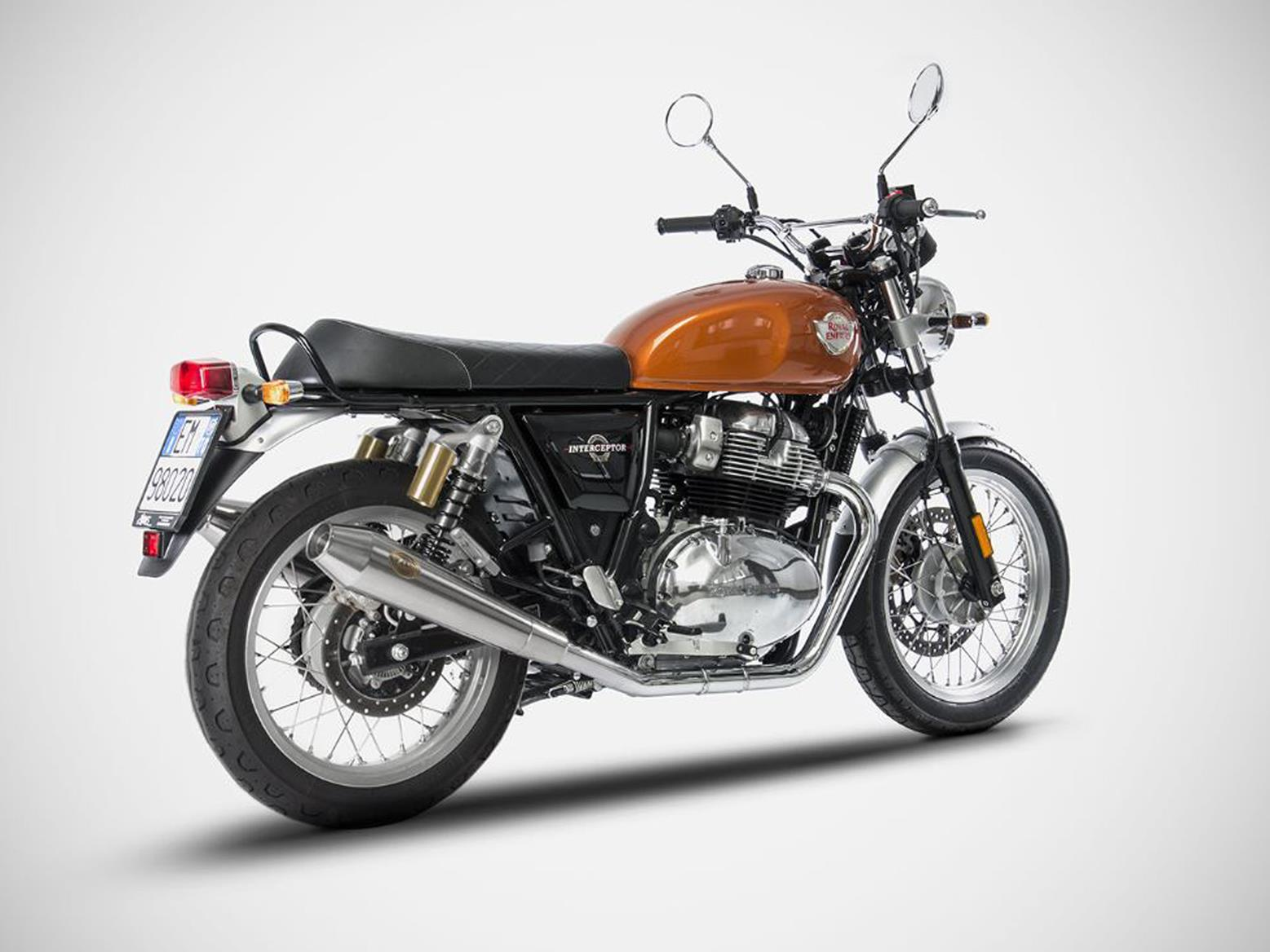 Royal Enfield Interceptor 650 with Zard pipes