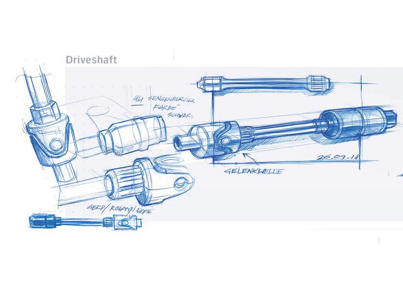BMW R18 shaftdrive design drawing