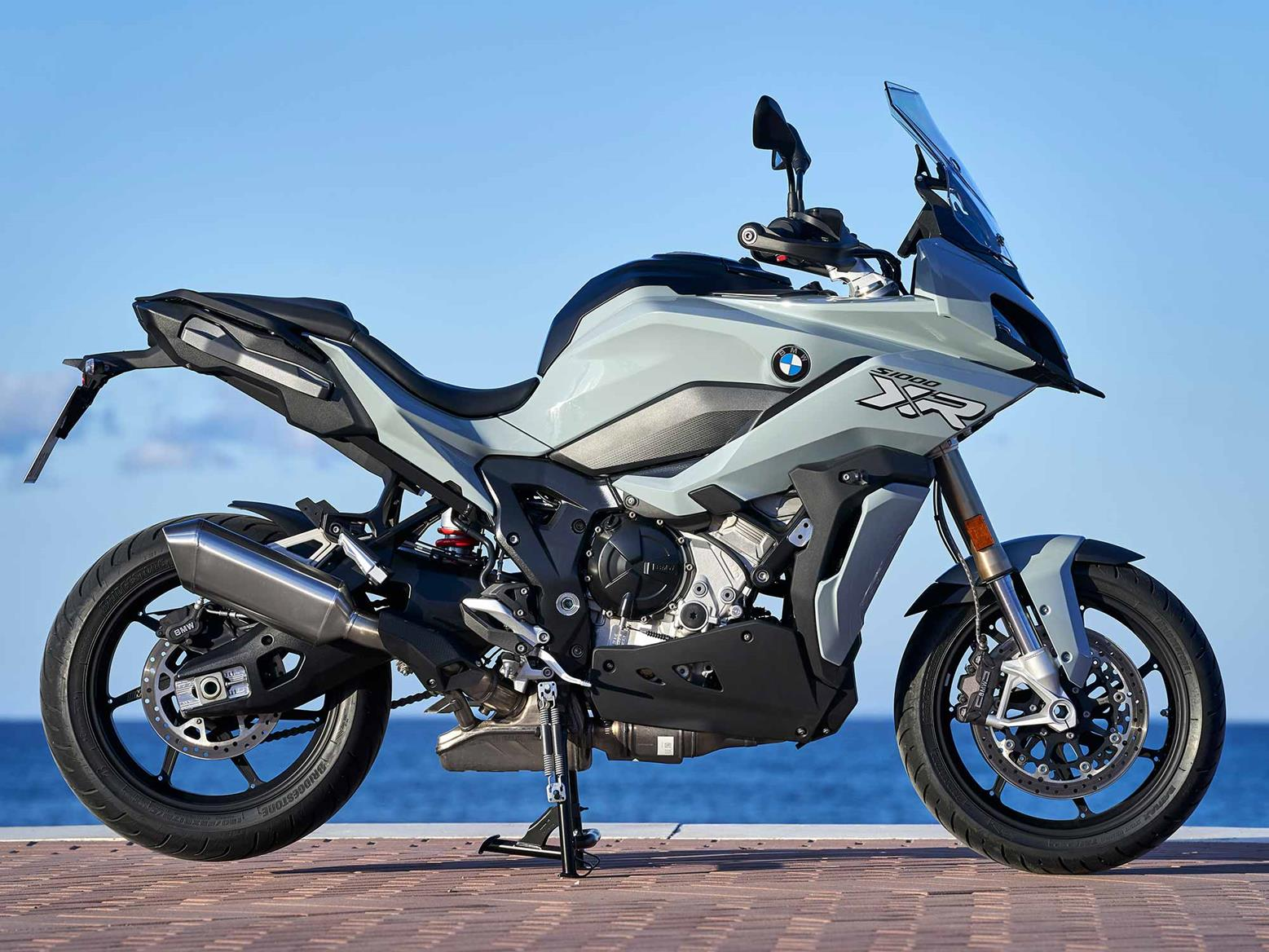 A side-on view of the BMW S1000XR