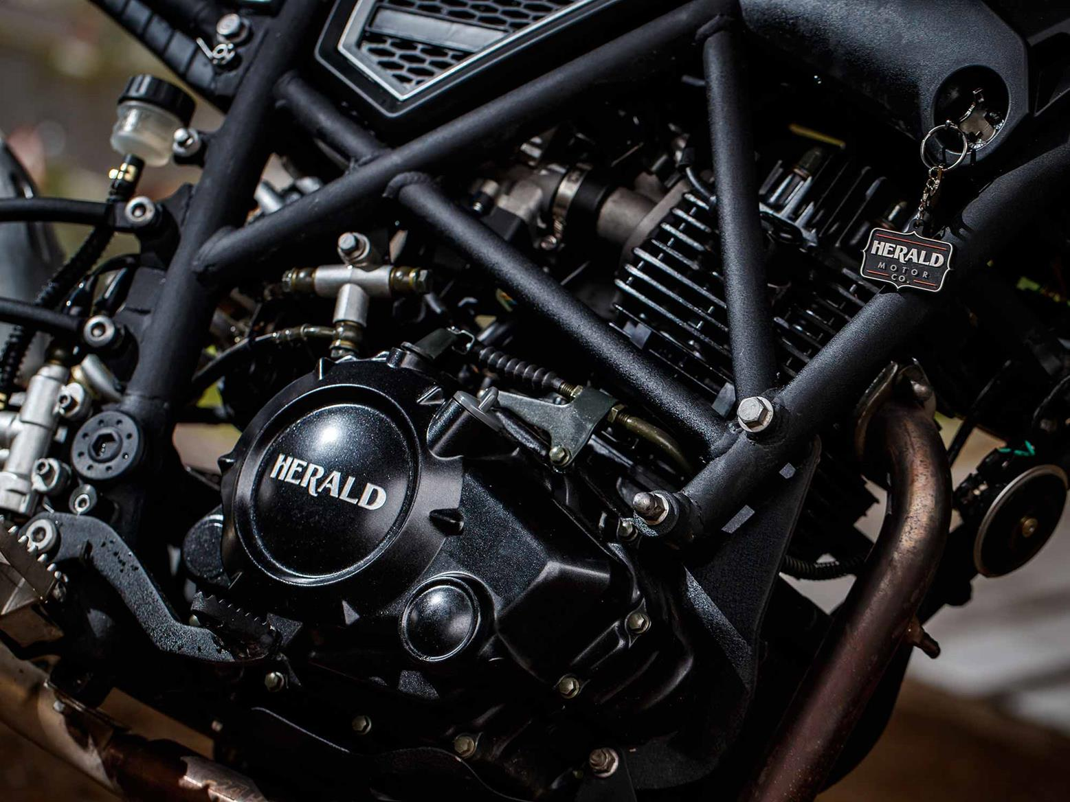 The Herald Brat 125 engine