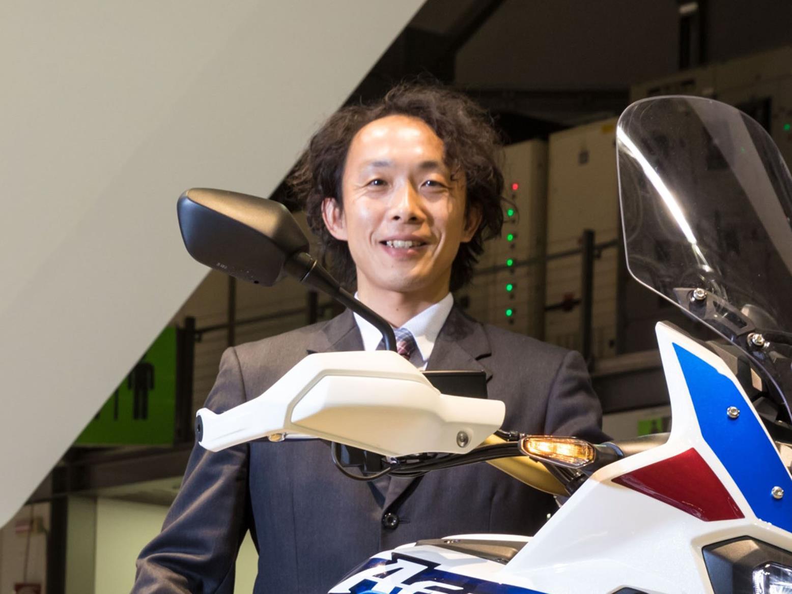 Kenji Morita with 2018 Honda Africa Twin
