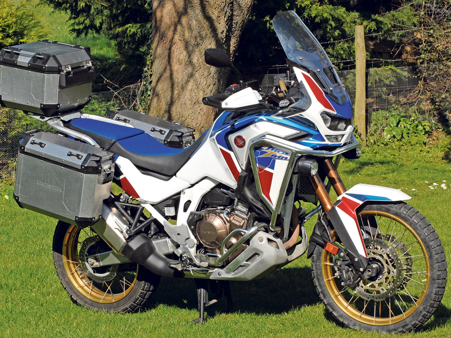 Honda Africa Twin AS ES Plus with luggage
