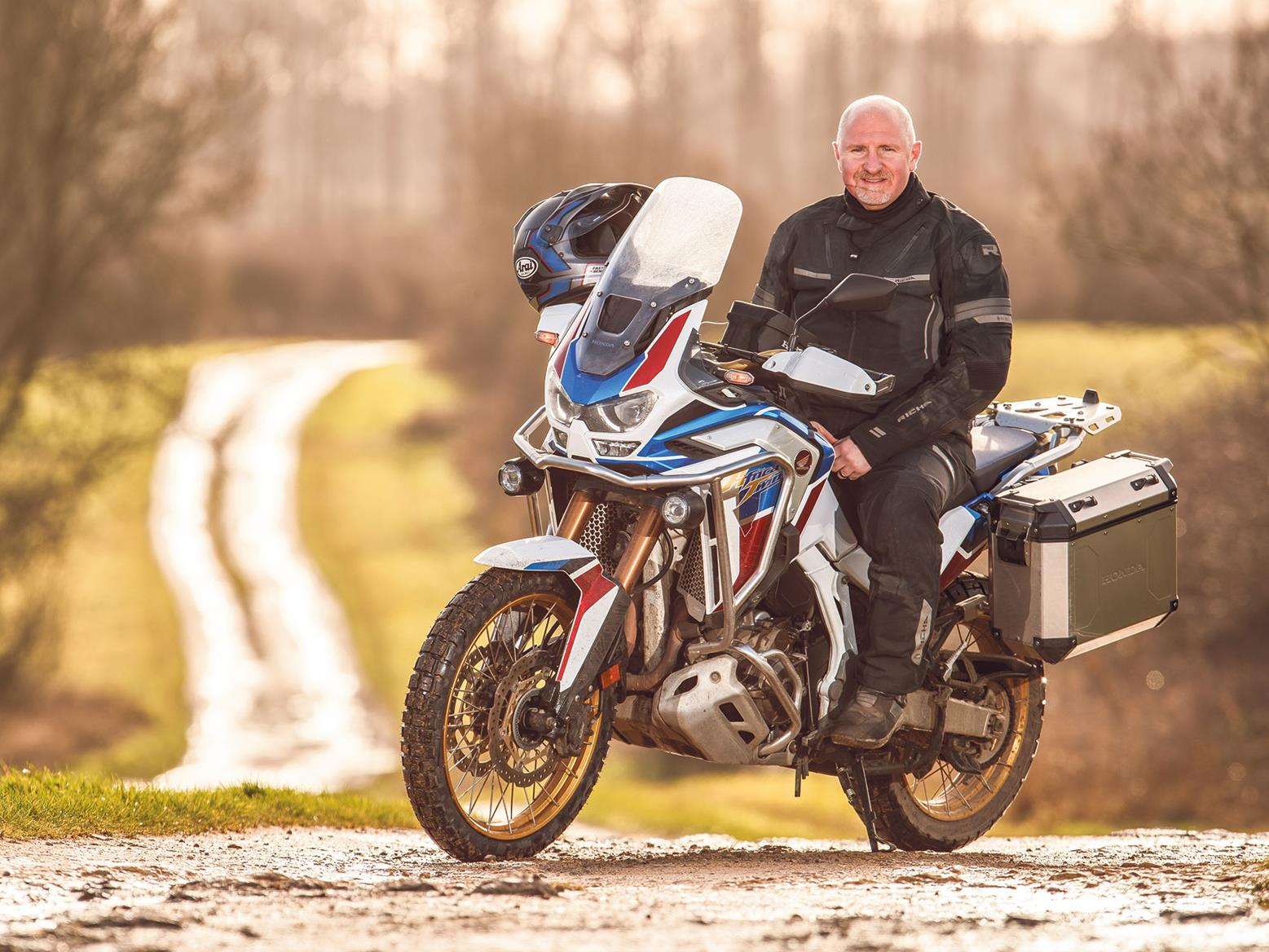 Richard Newland with his Honda Africa Twin AS ES Plus